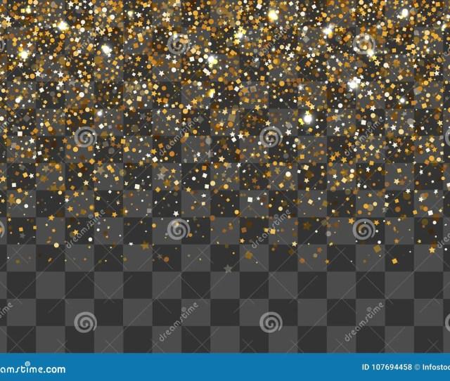 Golden Shimmer Random Falling Confetti