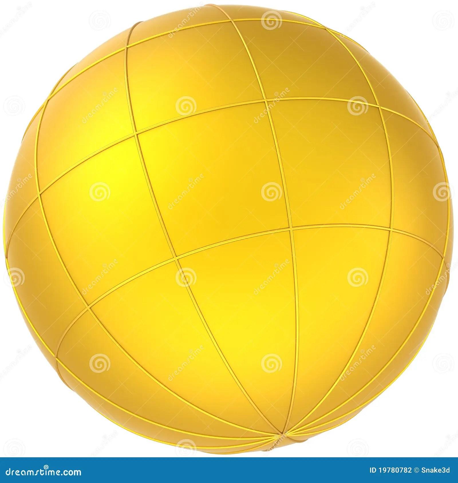 Golden Sphere Earth Planet Globe Stock Illustration