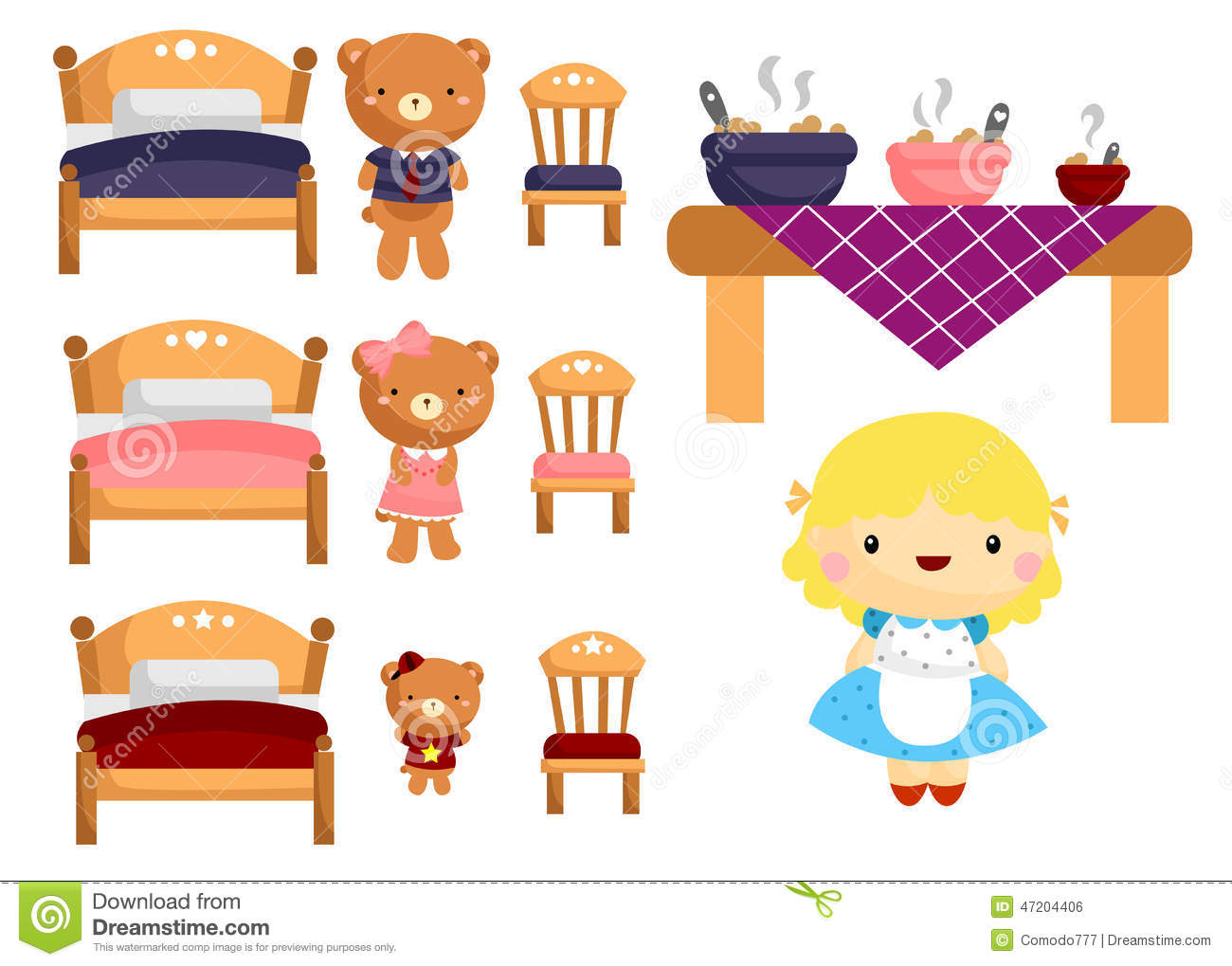 Goldilocks Stock Illustrations 35 Goldilocks Stock