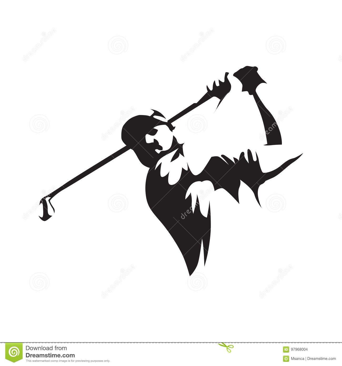 Abstract Golf Stock Illustrations 4 004 Abstract Golf