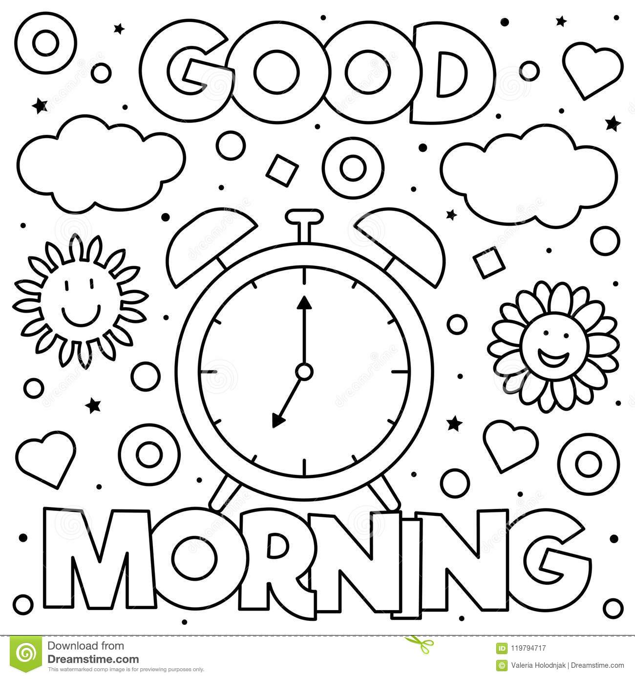 Good Morning Coloring Page Twisty Noodle Sketch Coloring Page