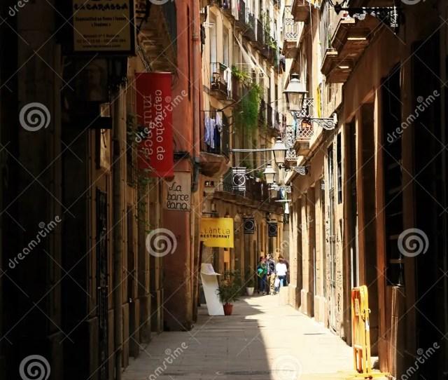 Gothic Quarter In Barcelona Spain