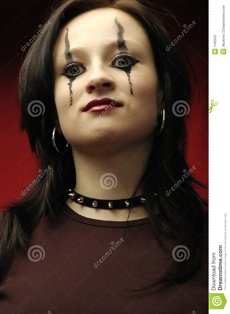 Gothic Woman Portrait Stock Image Image Of Outfit