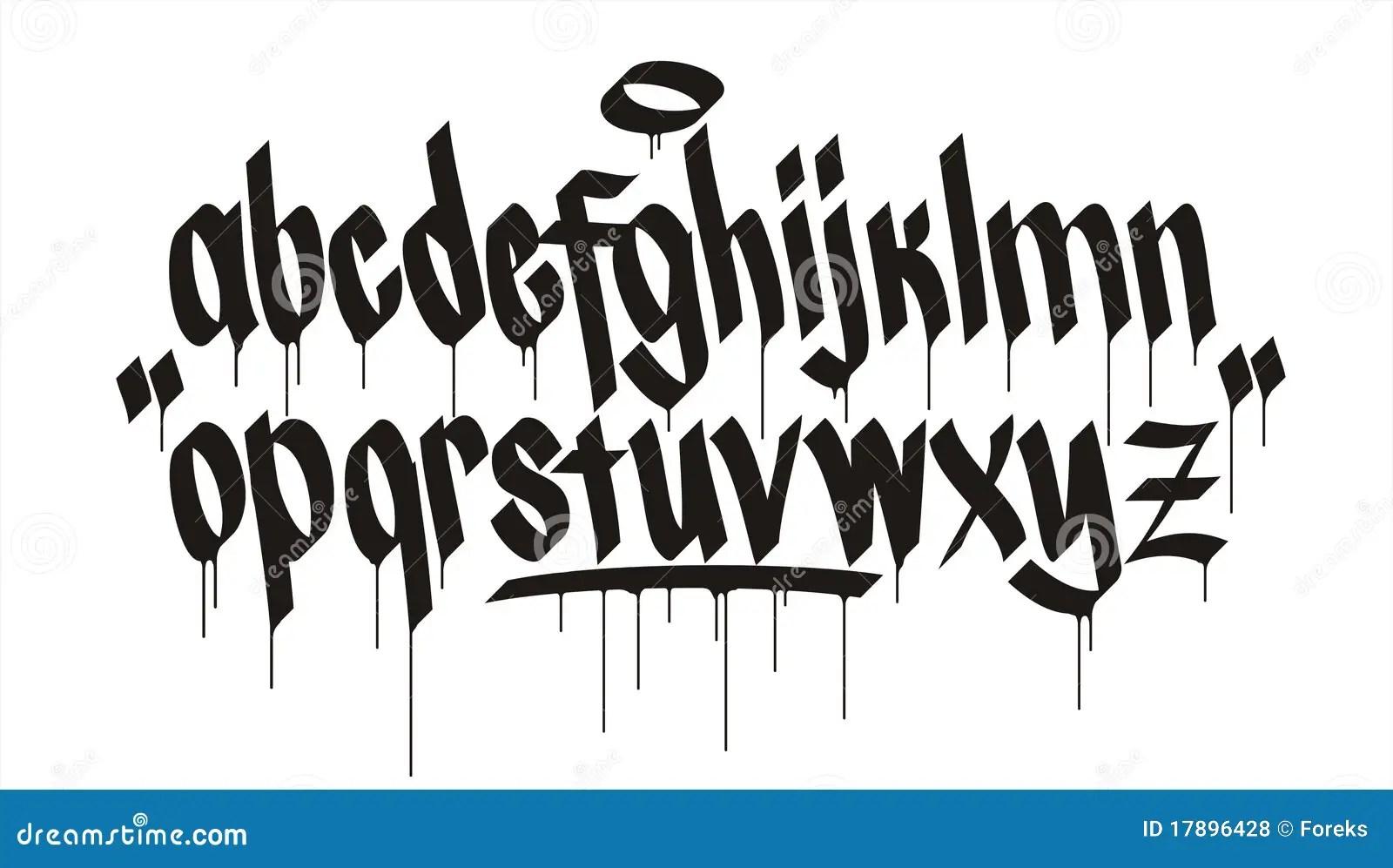 Graffiti Alphabet Royalty Free Stock Photos
