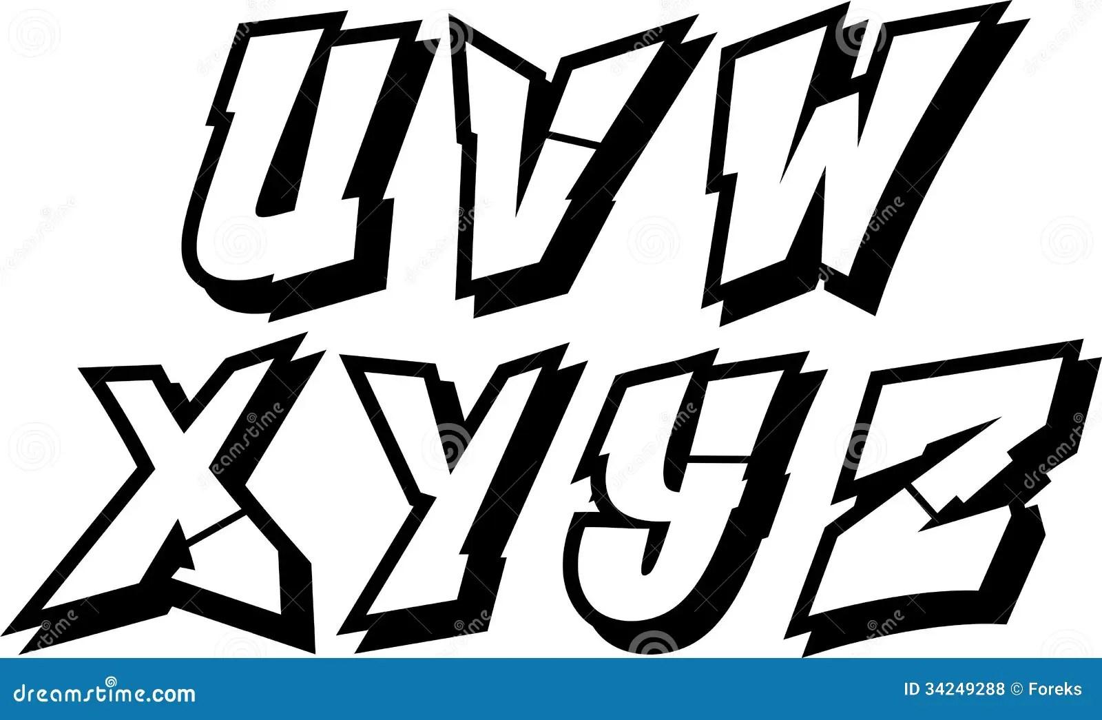 Graffiti Alphabet Part 3 Royalty Free Stock Photos