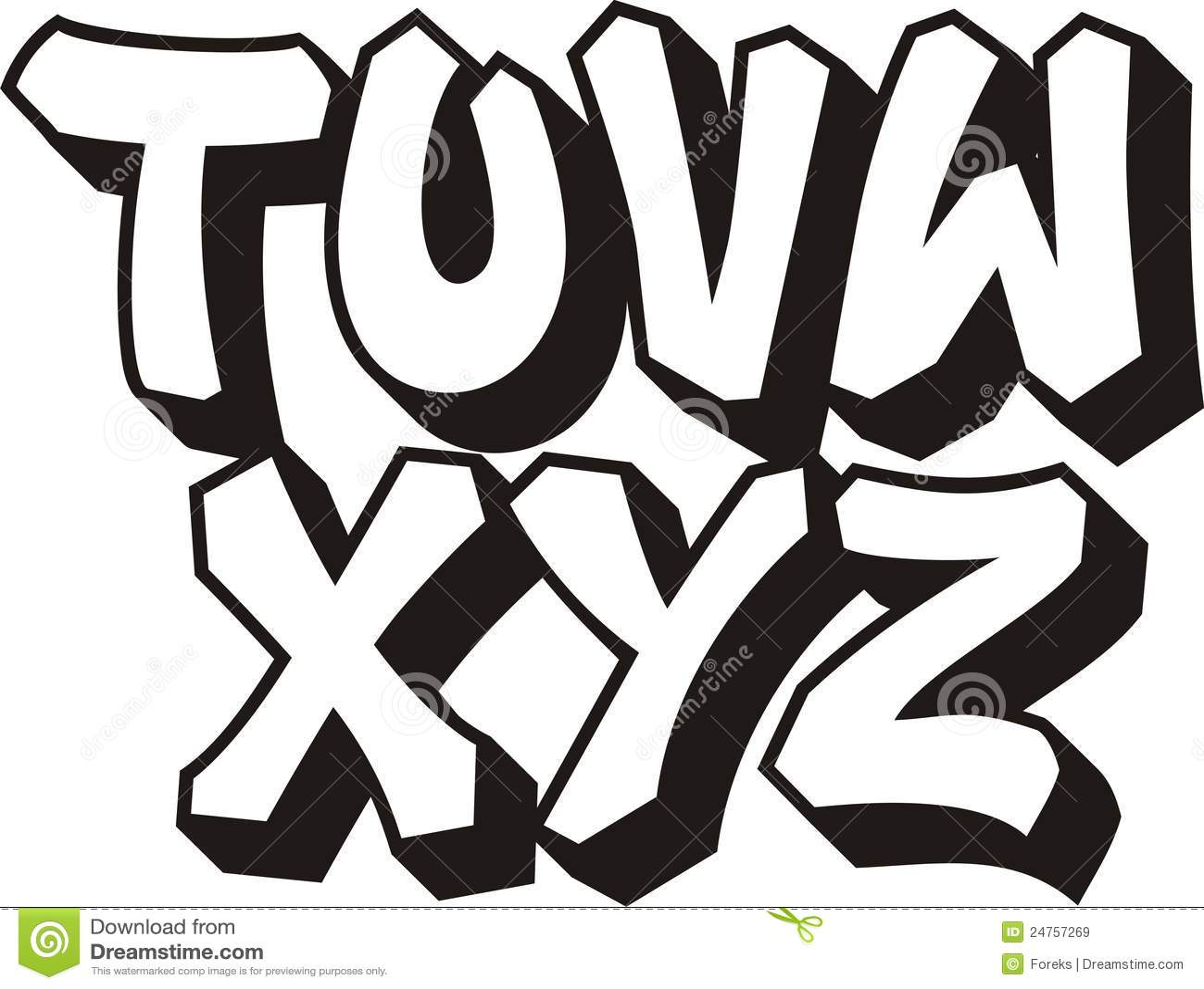 Graffiti Font Part 3 Royalty Free Stock Images