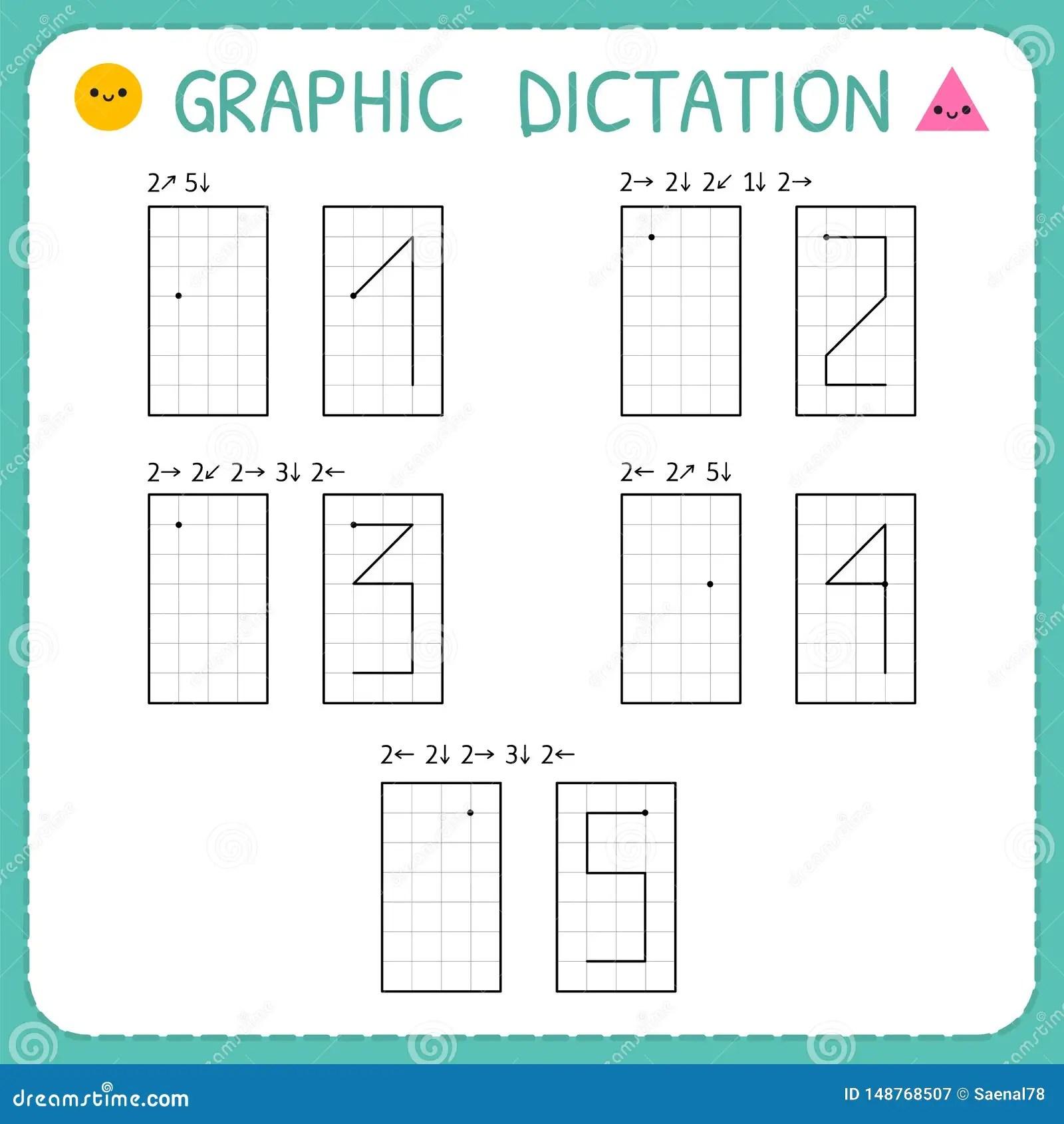 Grafisches Diktat Zahlen 1 5 Kindergartenlernspiel F R