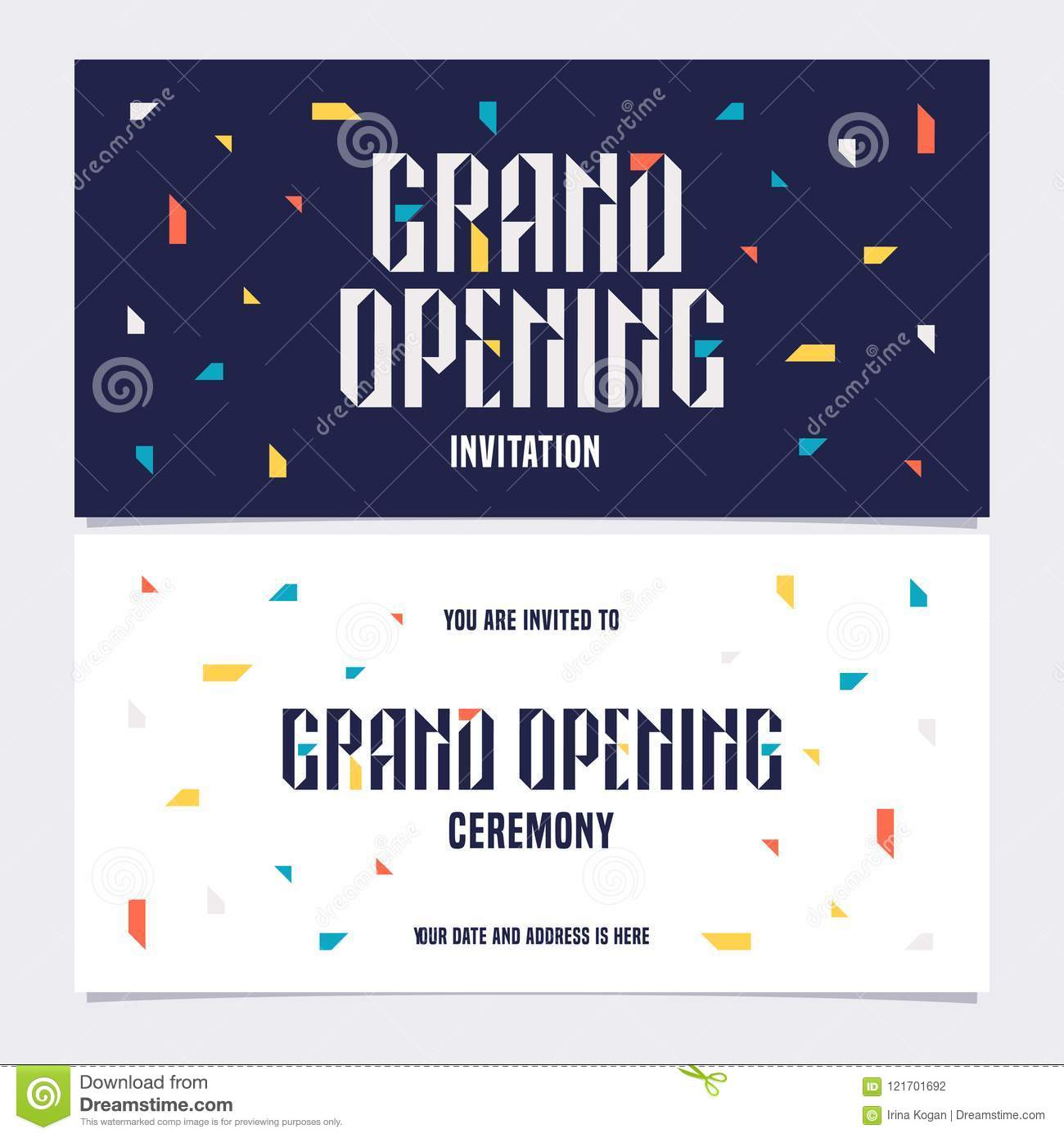 https www dreamstime com grand opening vector illustration background invitation card template invite to opening ceremony bodycopy grand opening image121701692