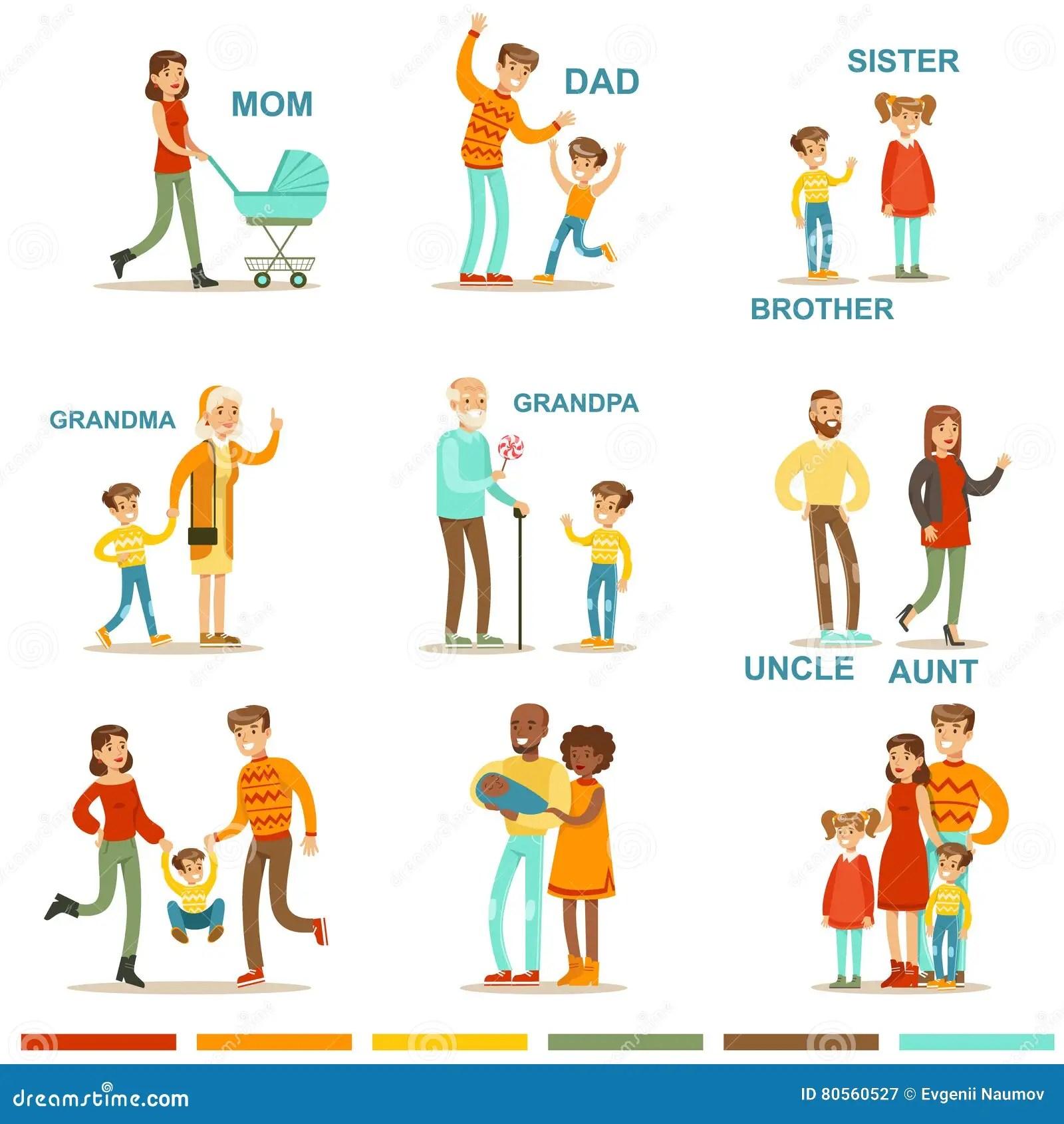 Grande Familia Feliz Com Todos Os Parentes Que Recolhem