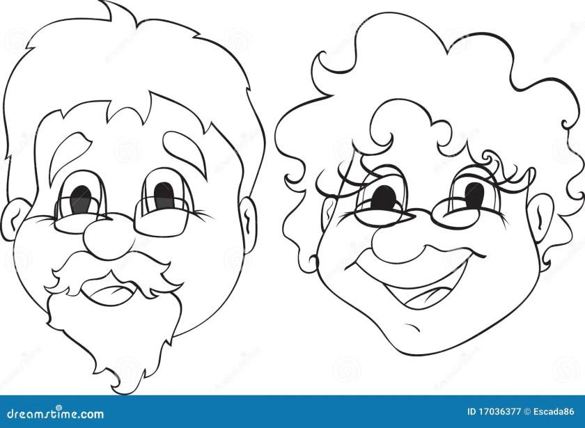 grandpa and grandma stock vector. illustration of aunt