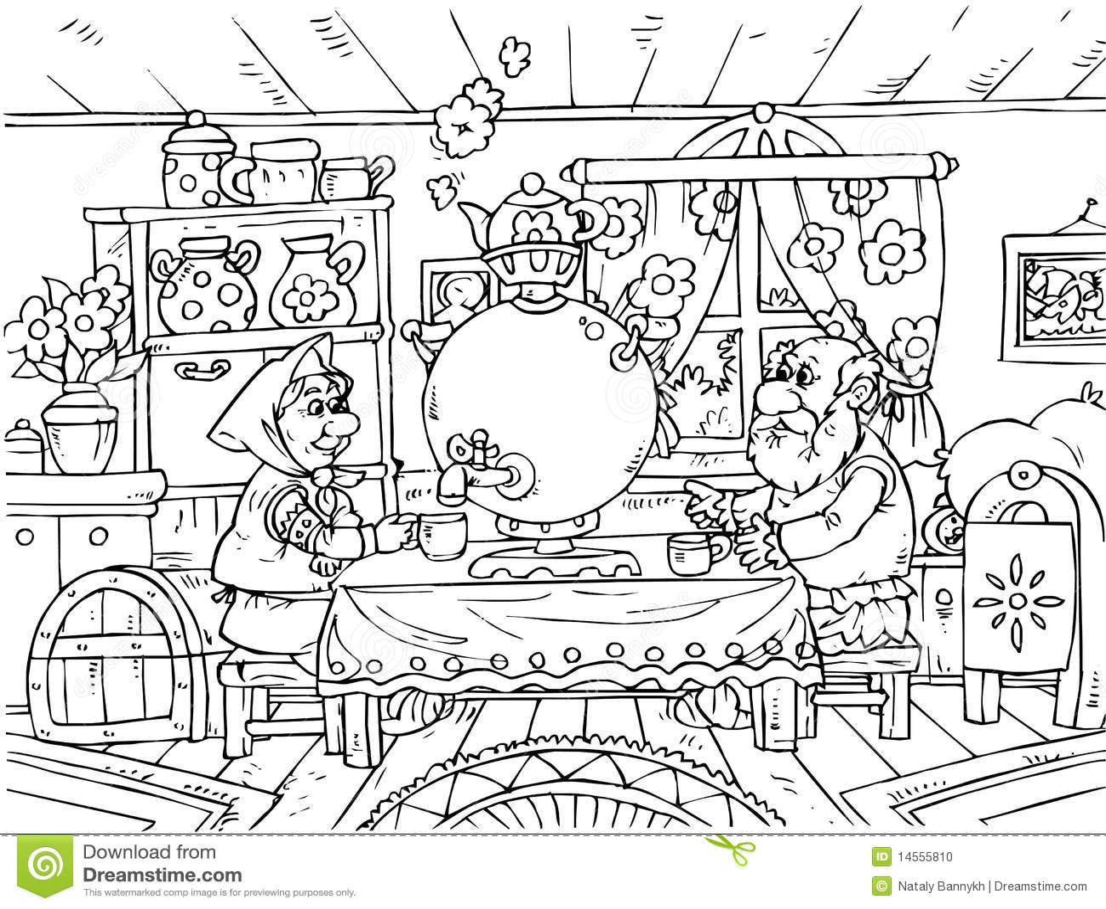 Grandpa Y Abuela Stock De Ilustracion Ilustracion De Ruso