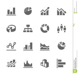 Graph And Diagram Icon Set Stock Vector  Image: 32323255