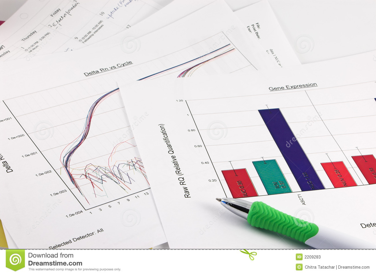 Graph Scientific Data Pen Stock Photos