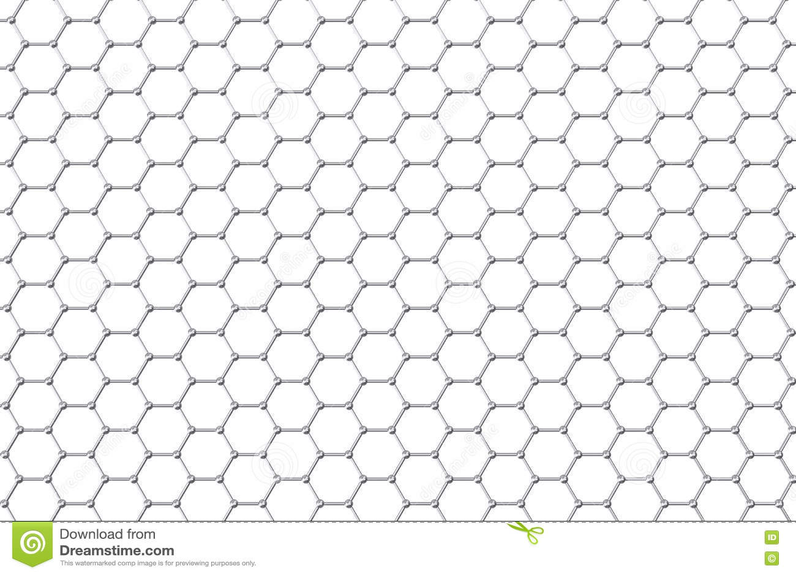 Graphene Atomic Structure Nanotechnology Background 3d