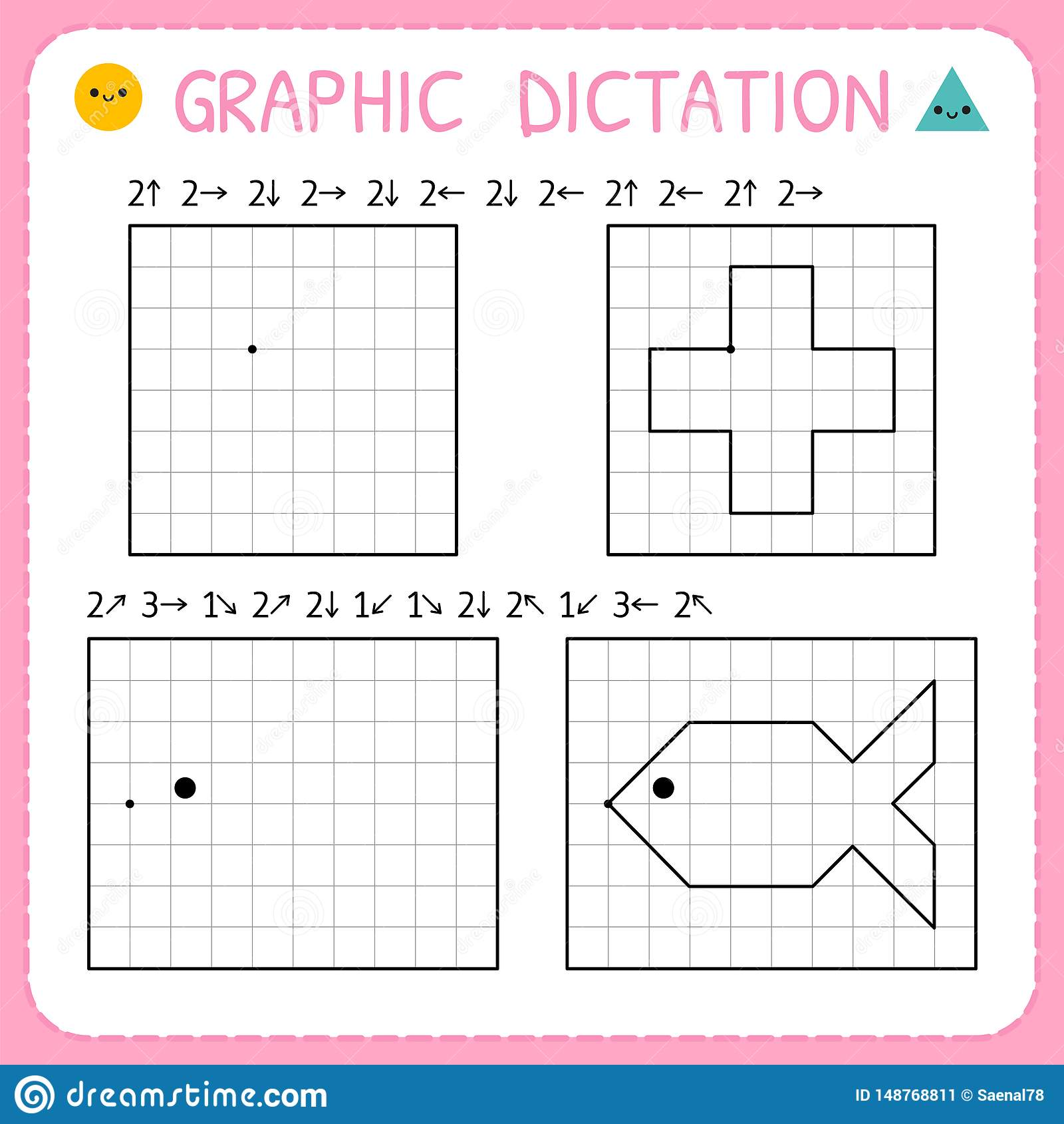 Graphic Dictation Kindergarten Educational Game For Kids
