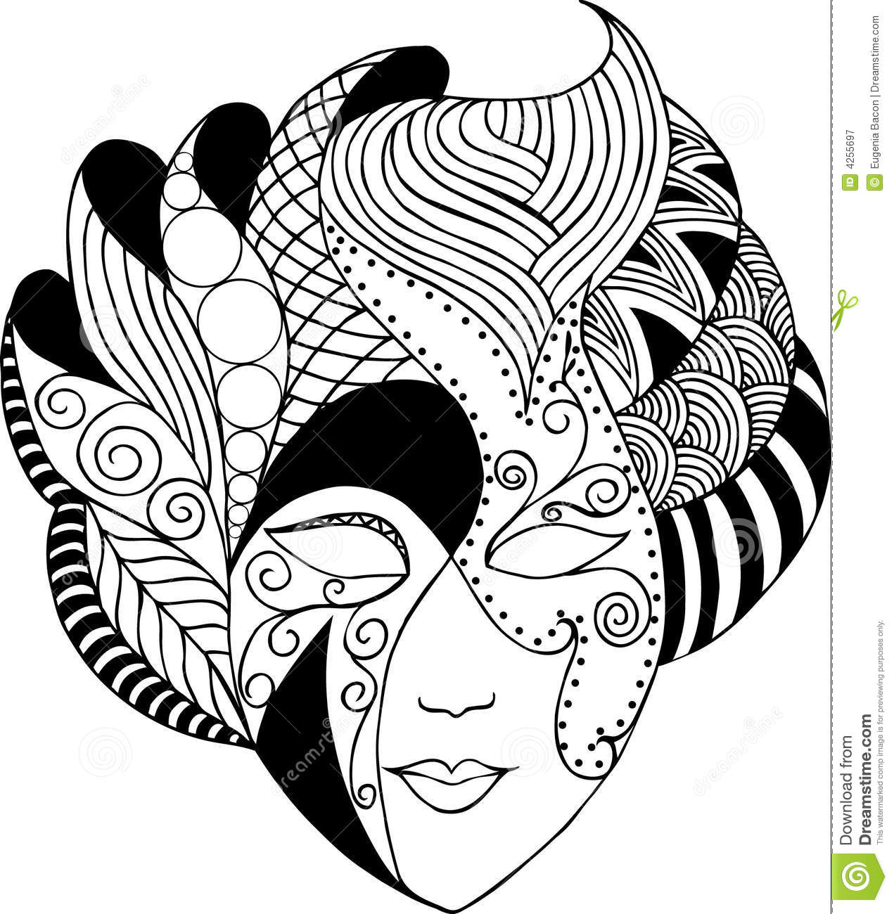 Graphic Vector Mask Stock Vector Illustration Of