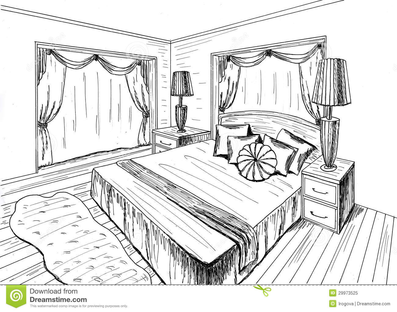 Graphical Sketch Royalty Free Stock Photo