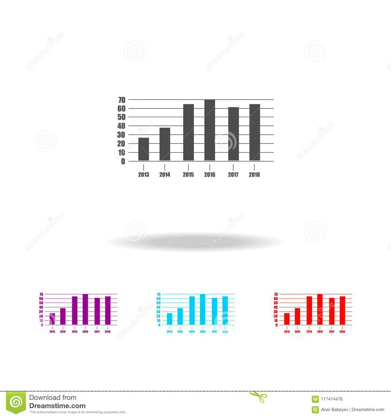 Graphics And Diagram Icon Elements Of Business Chart In