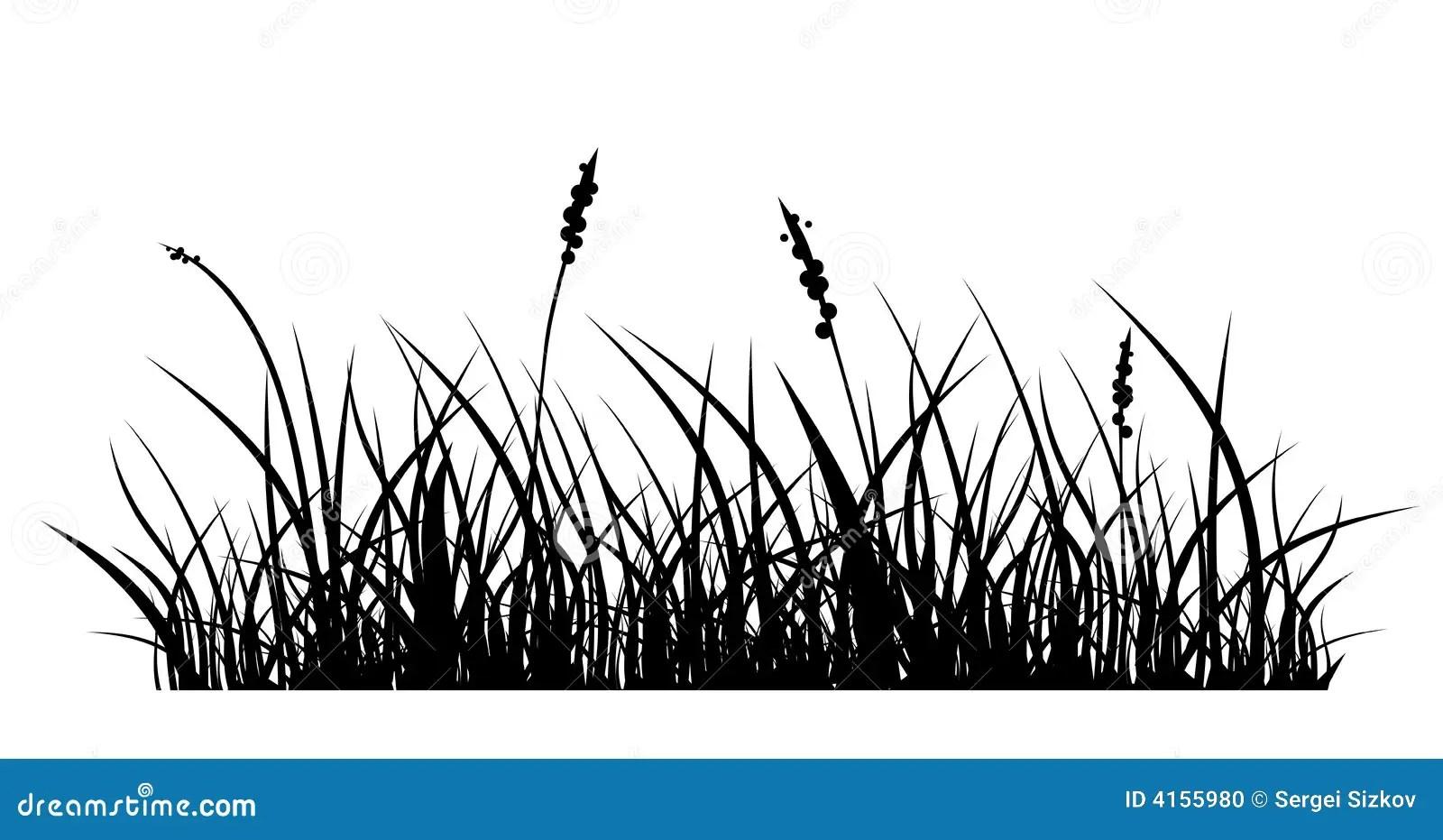 Grass Stock Vector Illustration Of Black Leaf Lawn