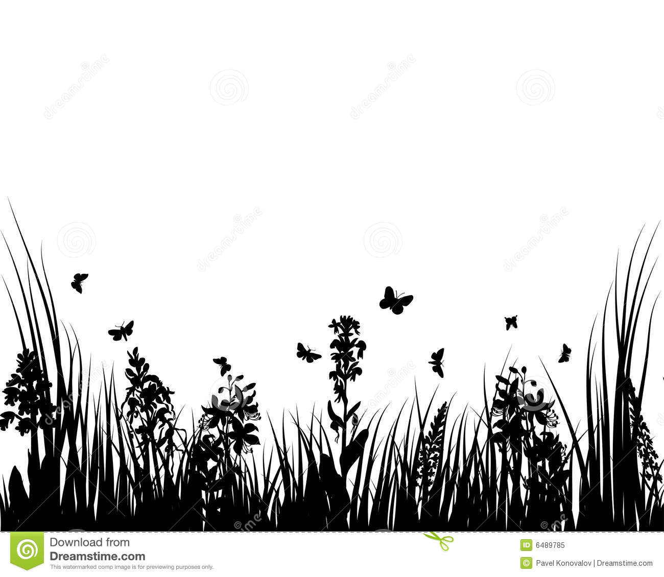 Grass And Flowers Stock Vector Illustration Of Drawings