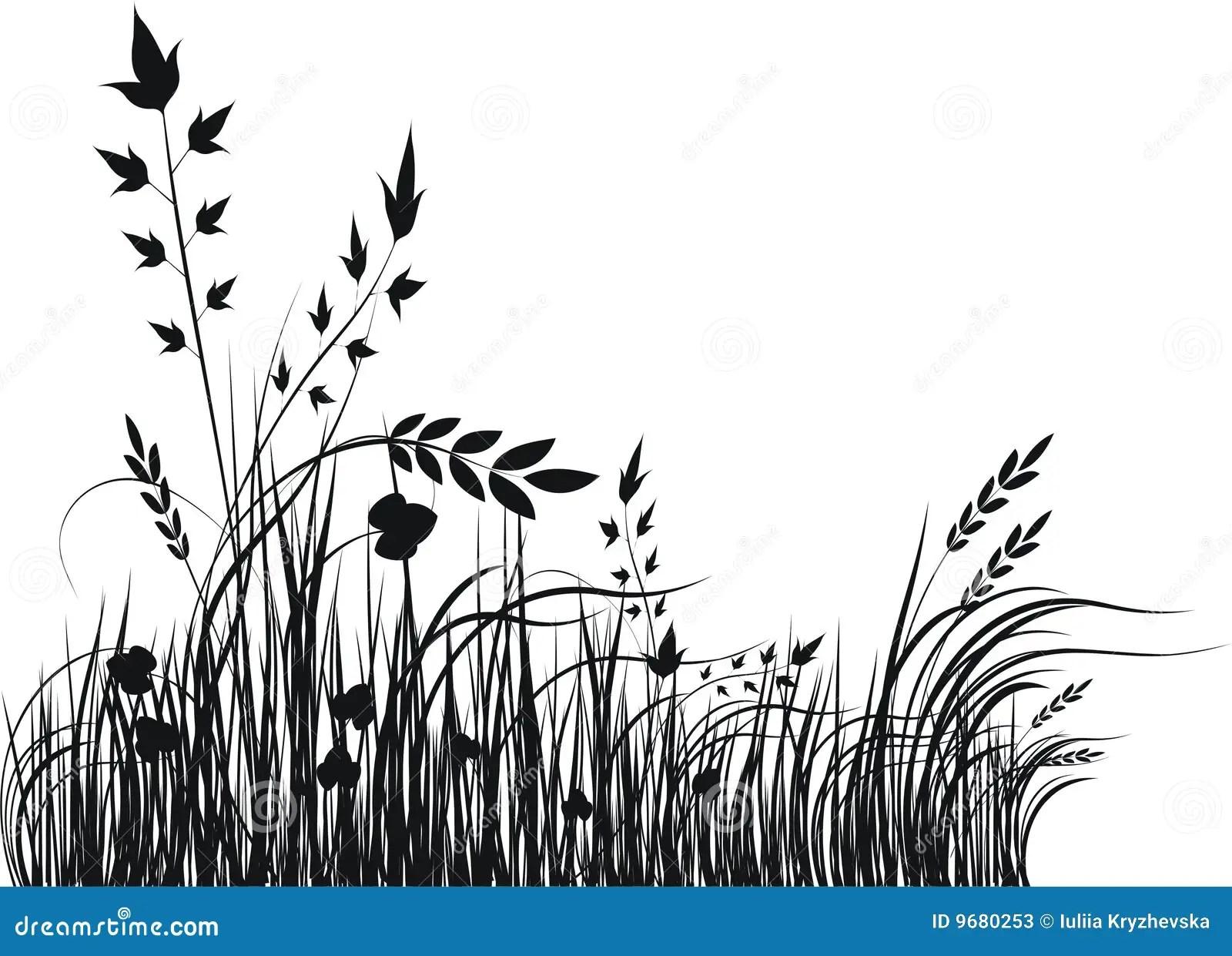 Grass Vector Silhouette Stock Photos