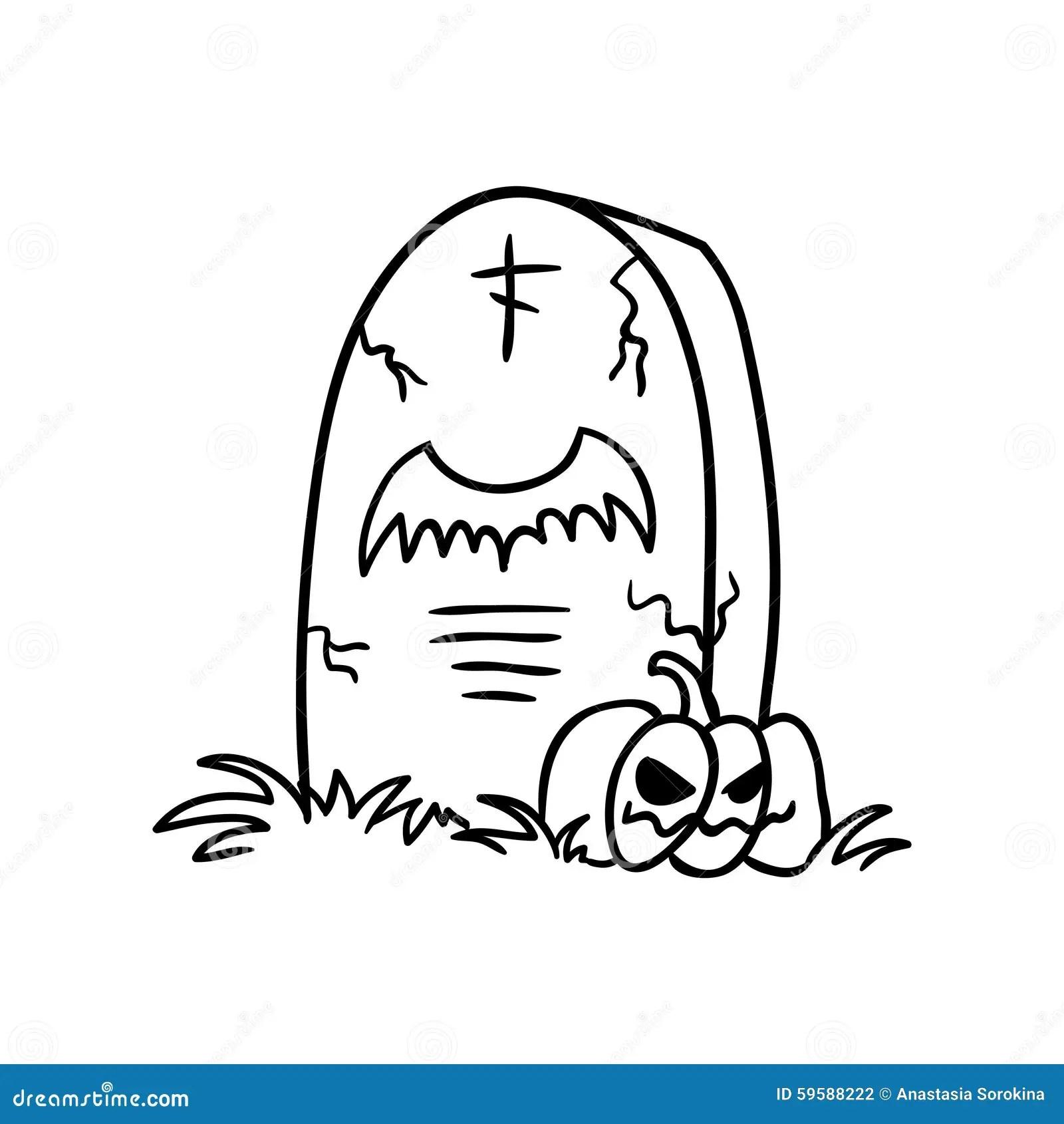 Grave Doodle Stock Illustration