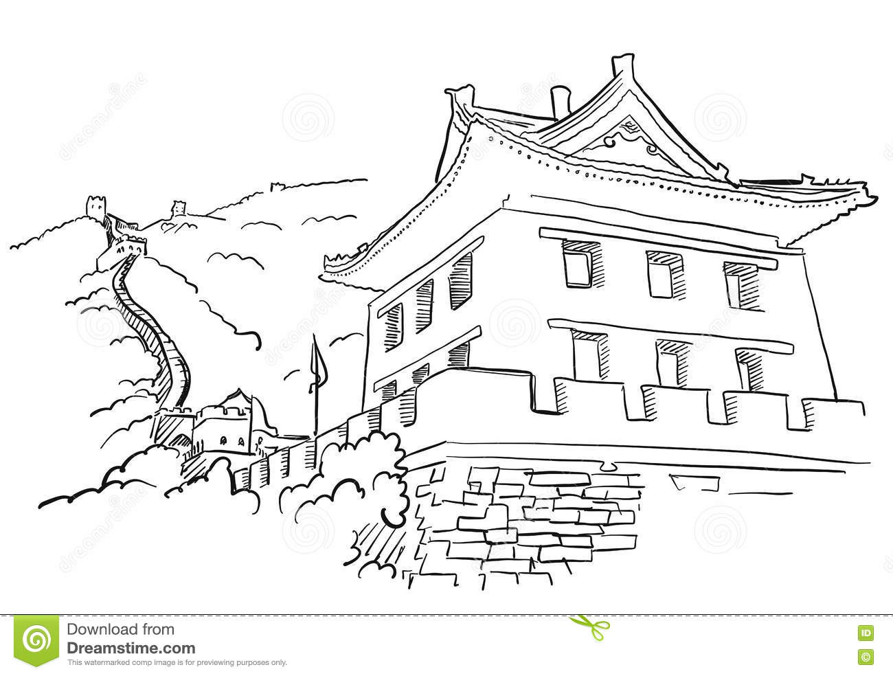 Great Wall Of China Clipart