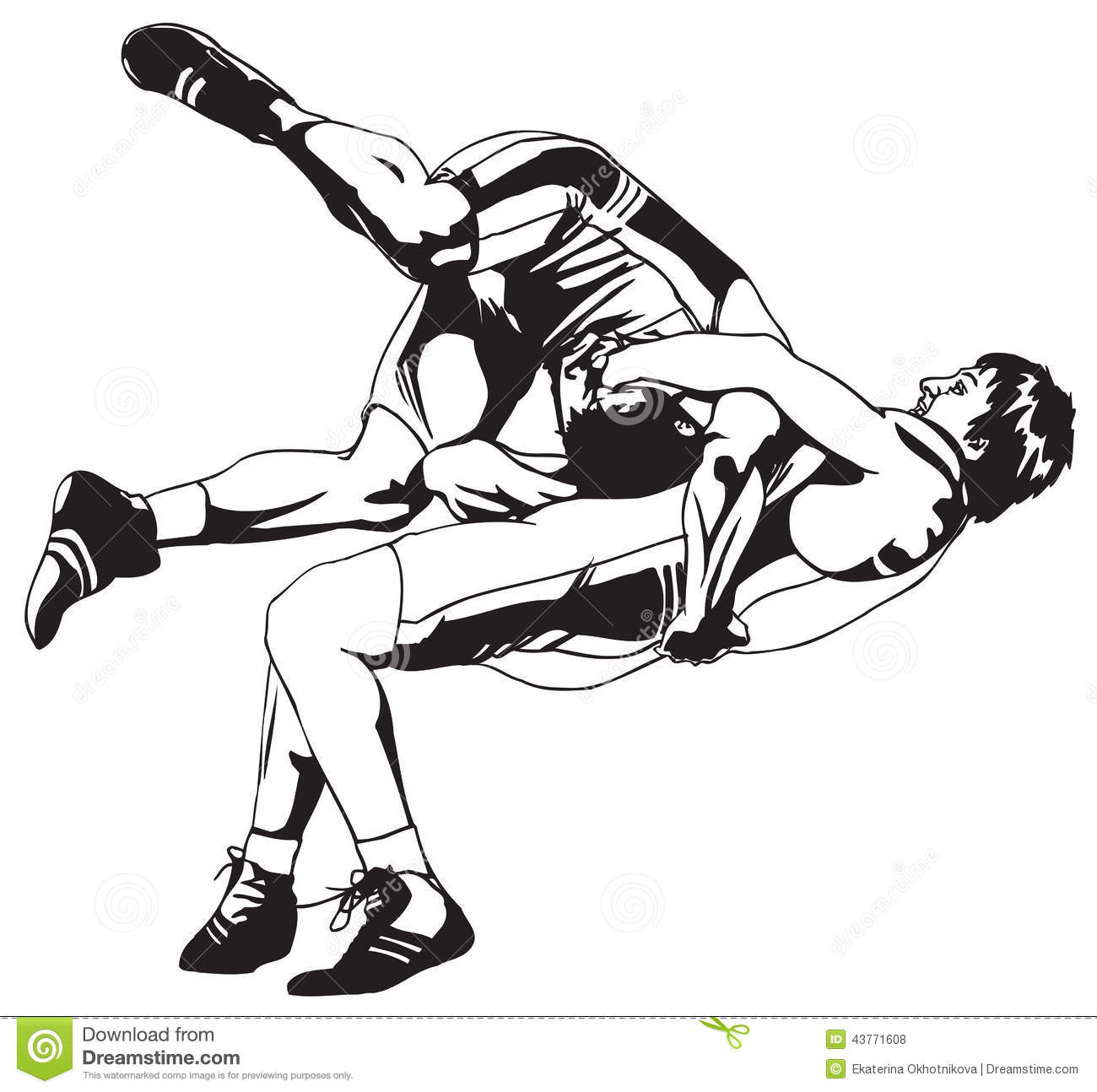 Greco Roman Wrestling Stock Vector Illustration Of