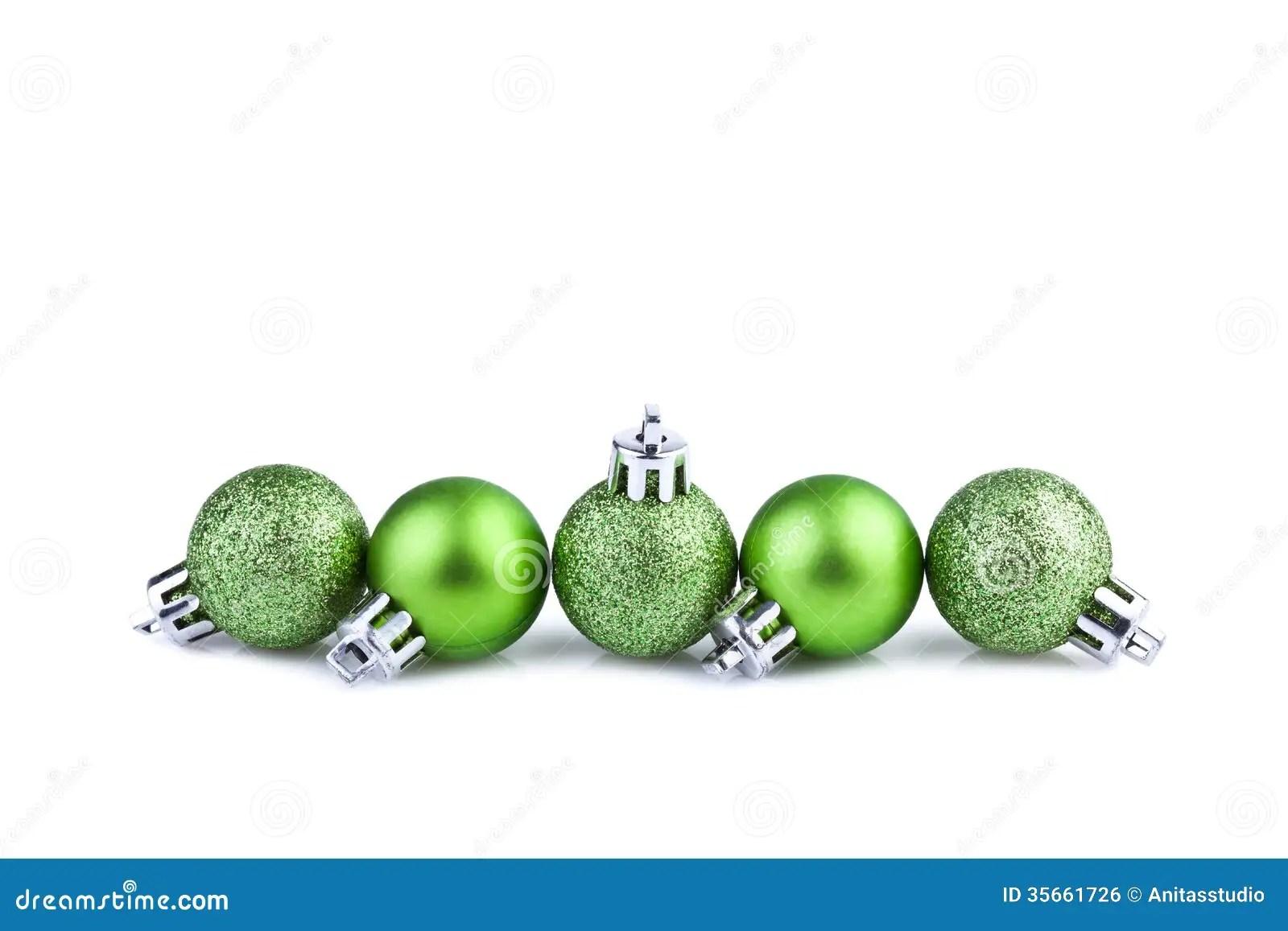 Green Christmas Balls Stock Photo Image Of Card Ball