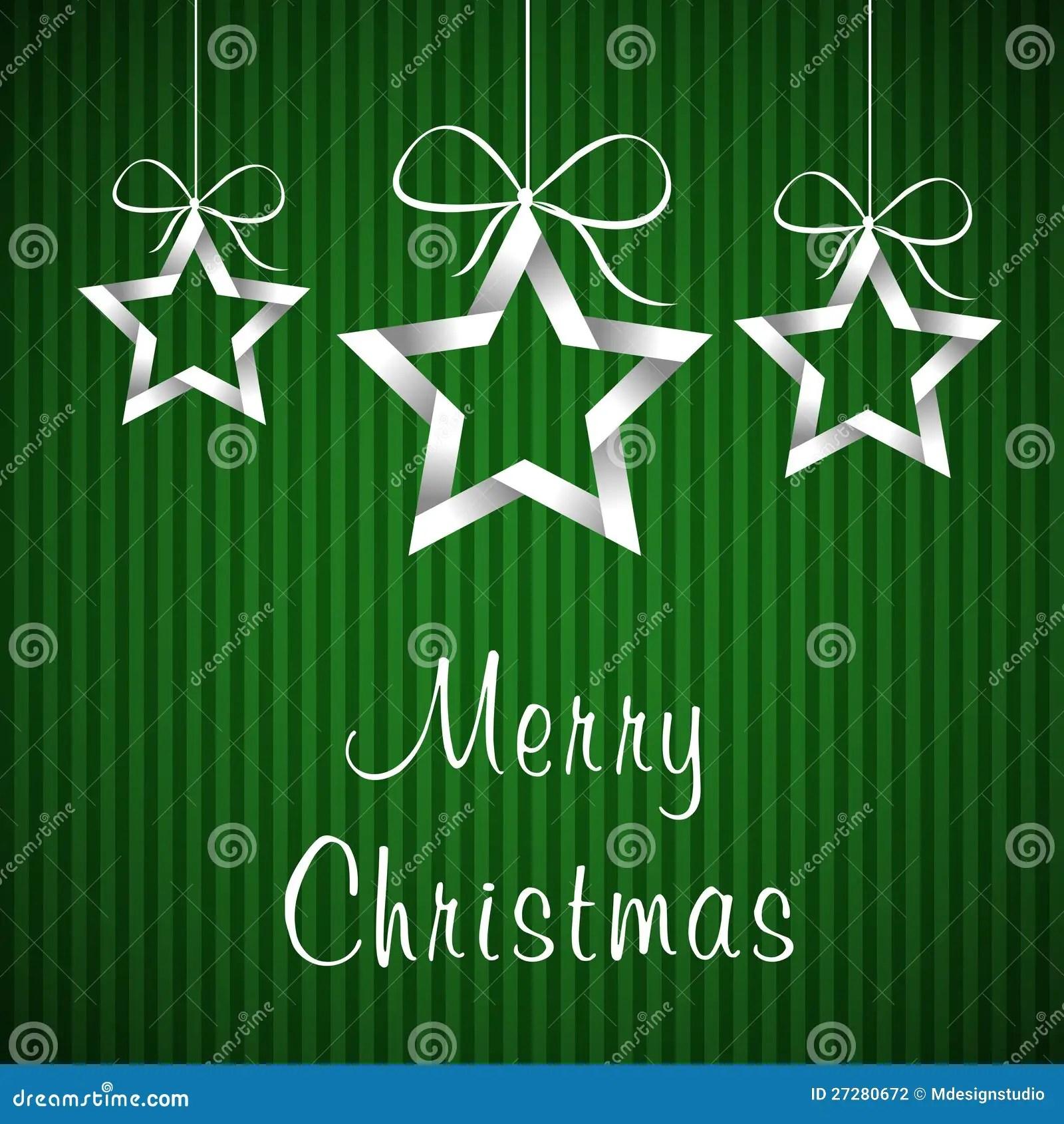 Green Christmas Card 2 Stock Illustration Image Of Cream