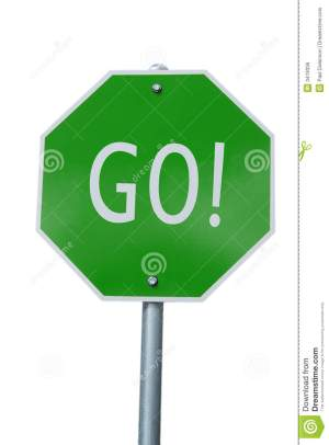 Green GO Sign Royalty Free Stock Image  Image: 3419336