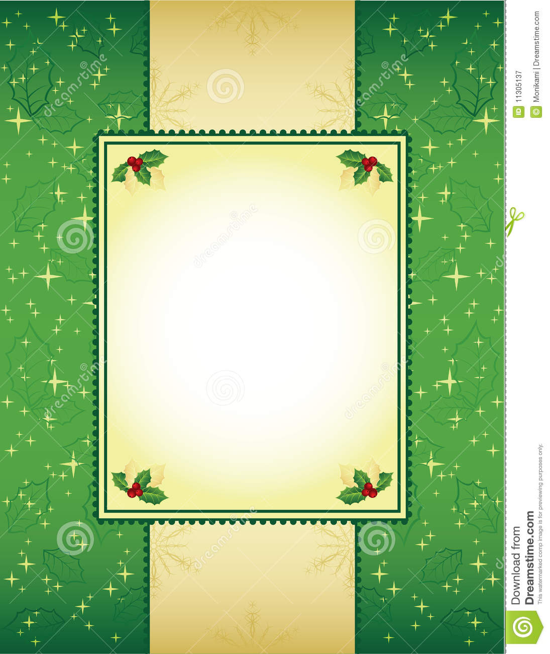 Green And Gold Christmas Background Stock Image Image