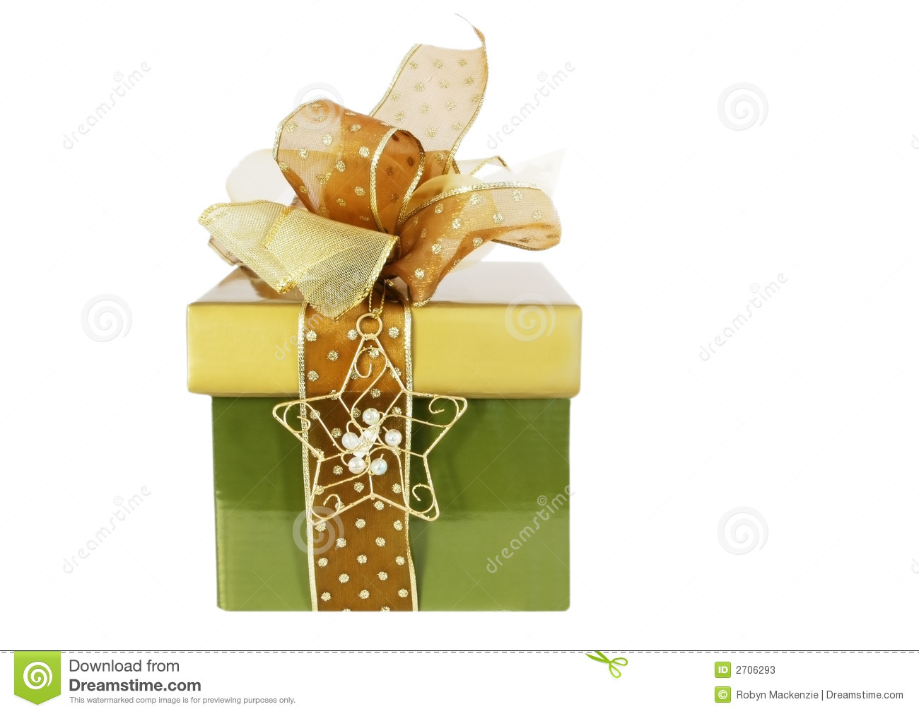Green And Gold Gift Box Stock Photos Image 2706293
