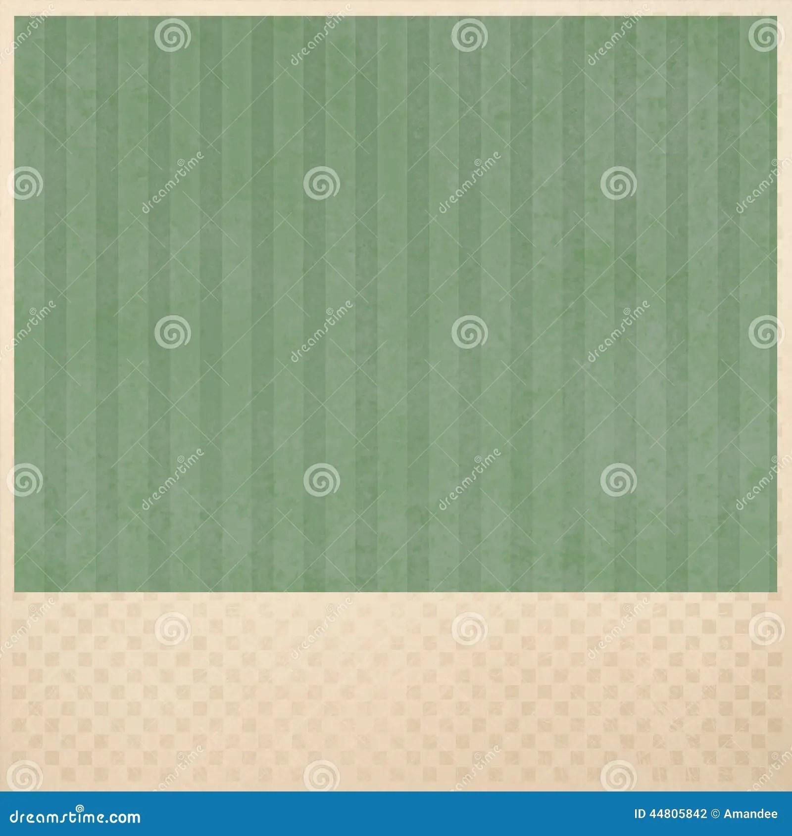 Green Striped Background On Beige Checkered Pattern