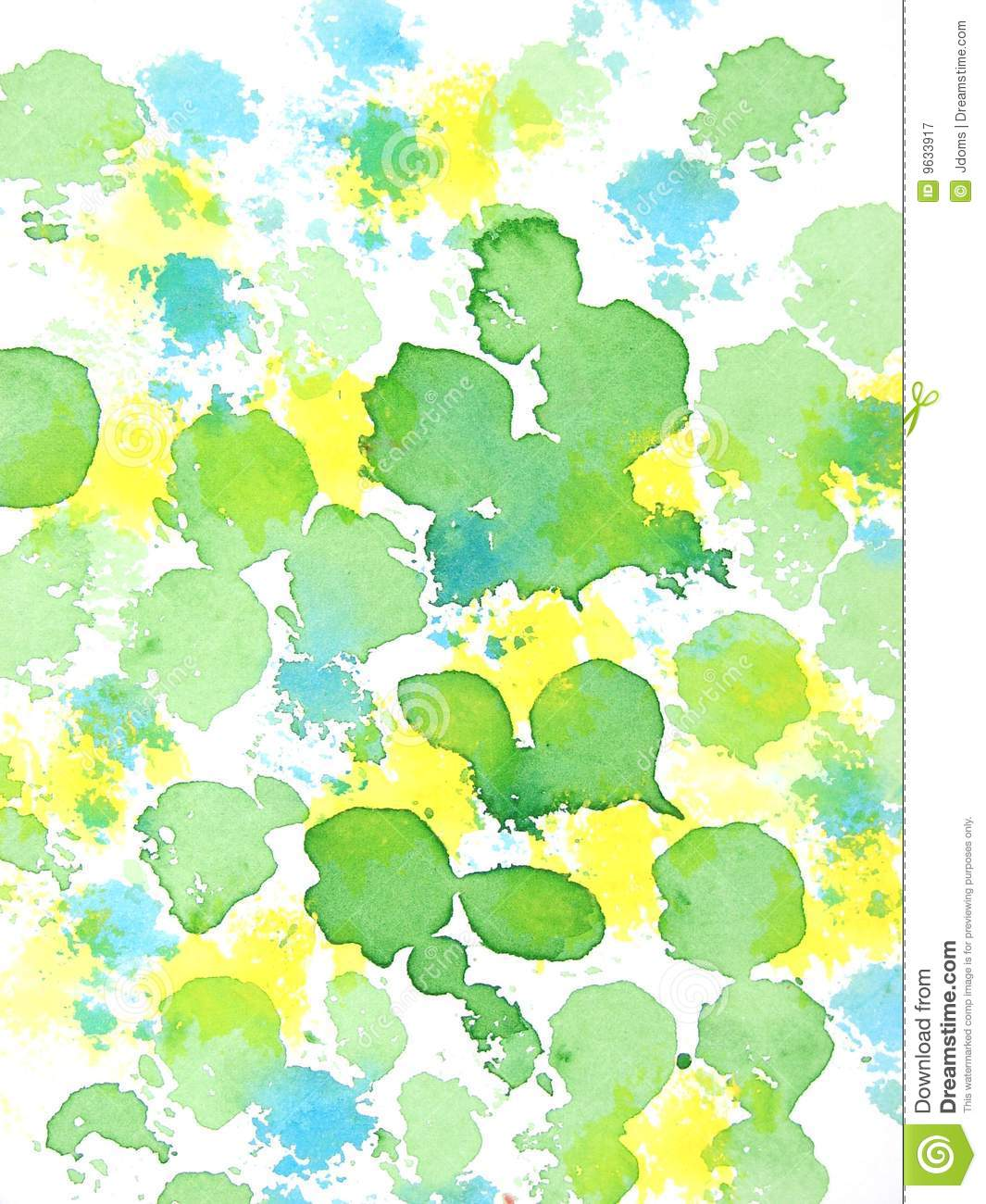 Green Yellow And Blue Abstract Pattern Royalty Free Stock