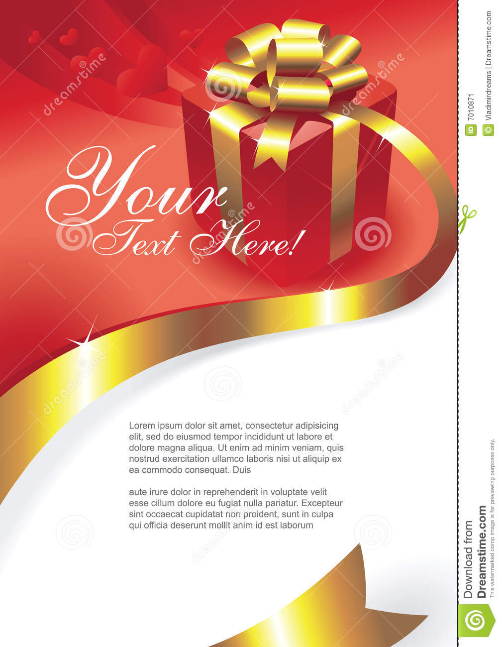 Greeting Card Vector Stock Image Image 7010871