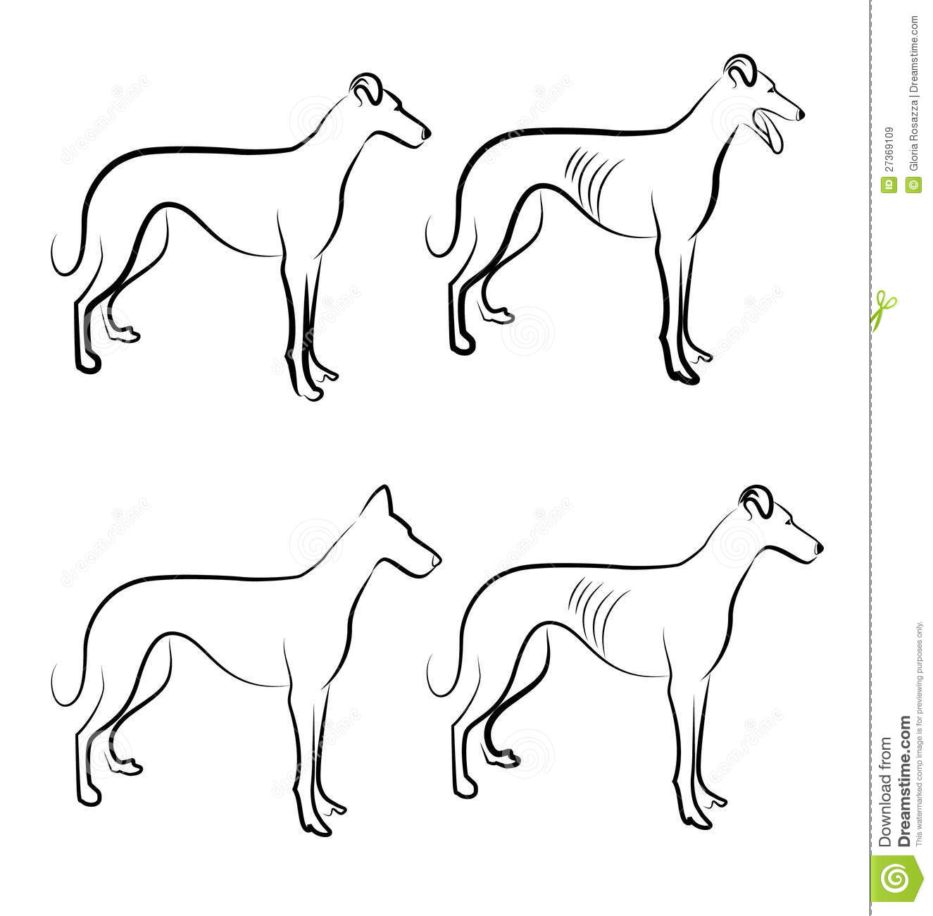 Greyhound Dogs Logo Royalty Free Stock Images