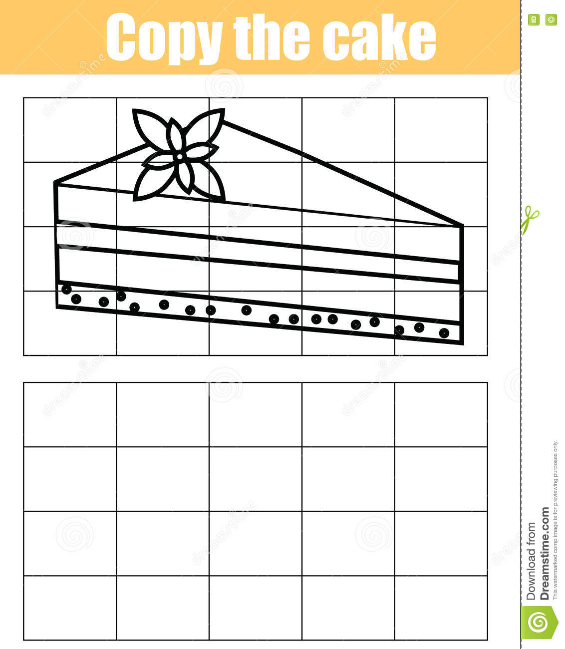 Grid Copy Children Educational Game Printable Drawing