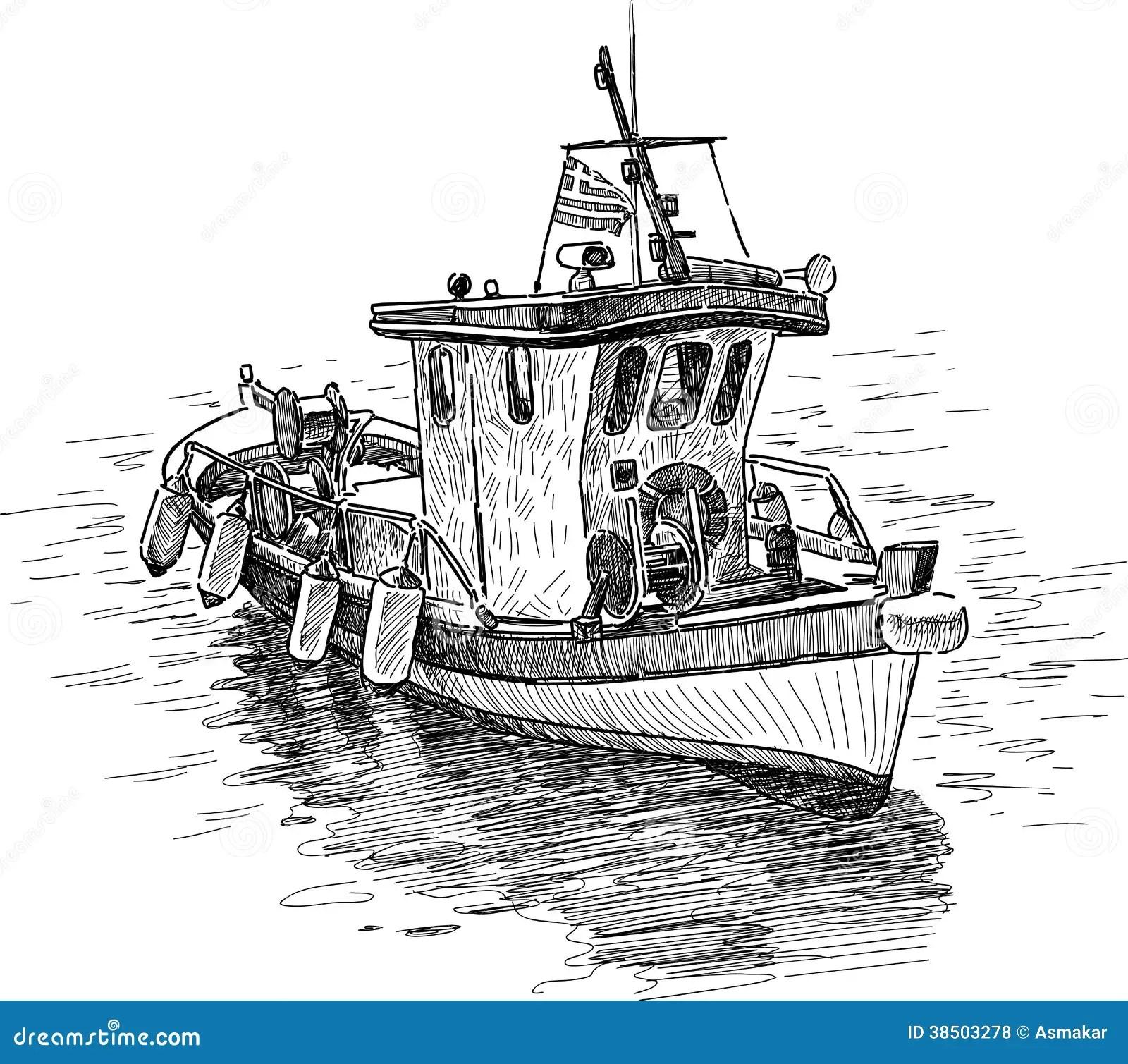 Griechisches Fischerboot Lizenzfreie Stockfotos