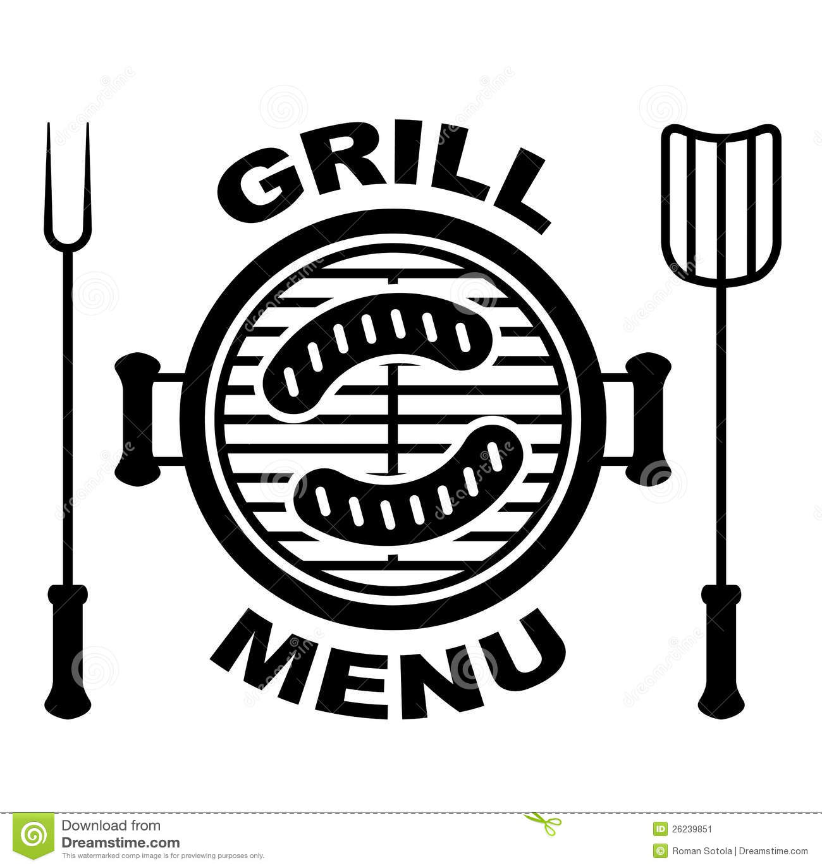 Grill Menu Symbol Stock Image