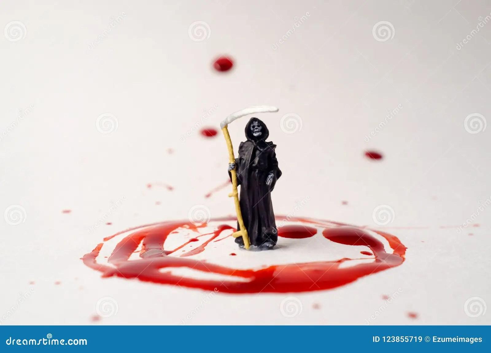Grim Reaper Blood Splatter Stock Image Image Of Pattern