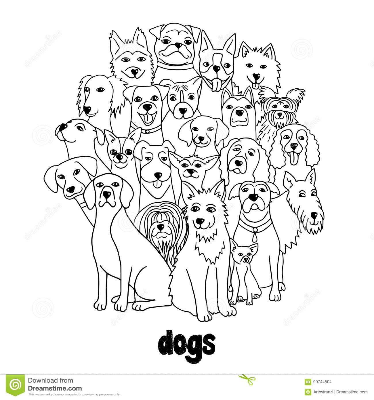 Group Dogs Stock Illustrations 2 848 Group Dogs Stock