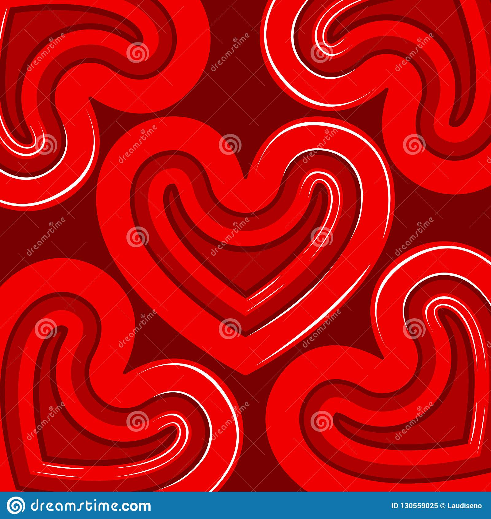 Group Of Heart Shapes Valentine Day Background Stock