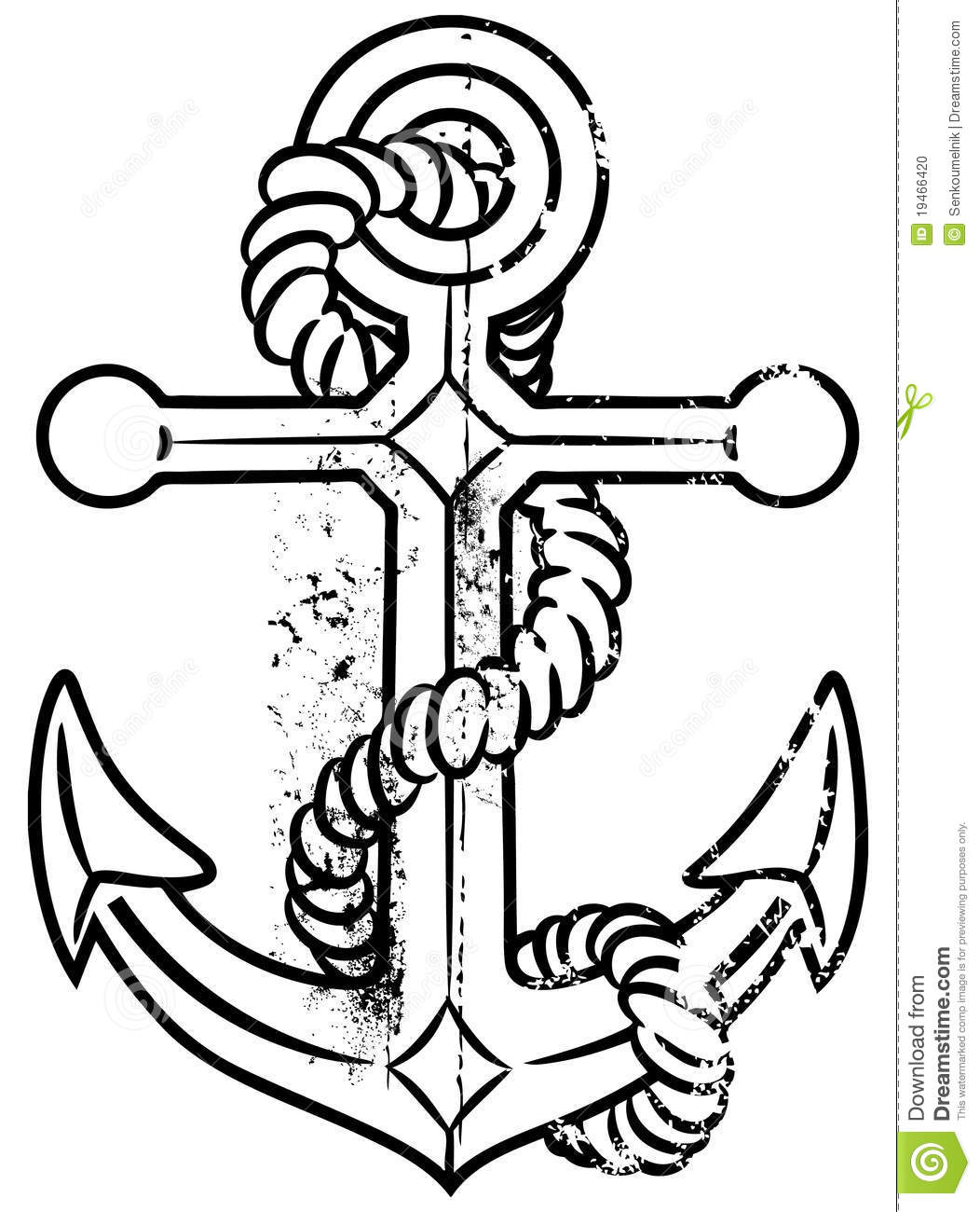 Grunge Anchor Stock Vector Illustration Of Symbol Navy