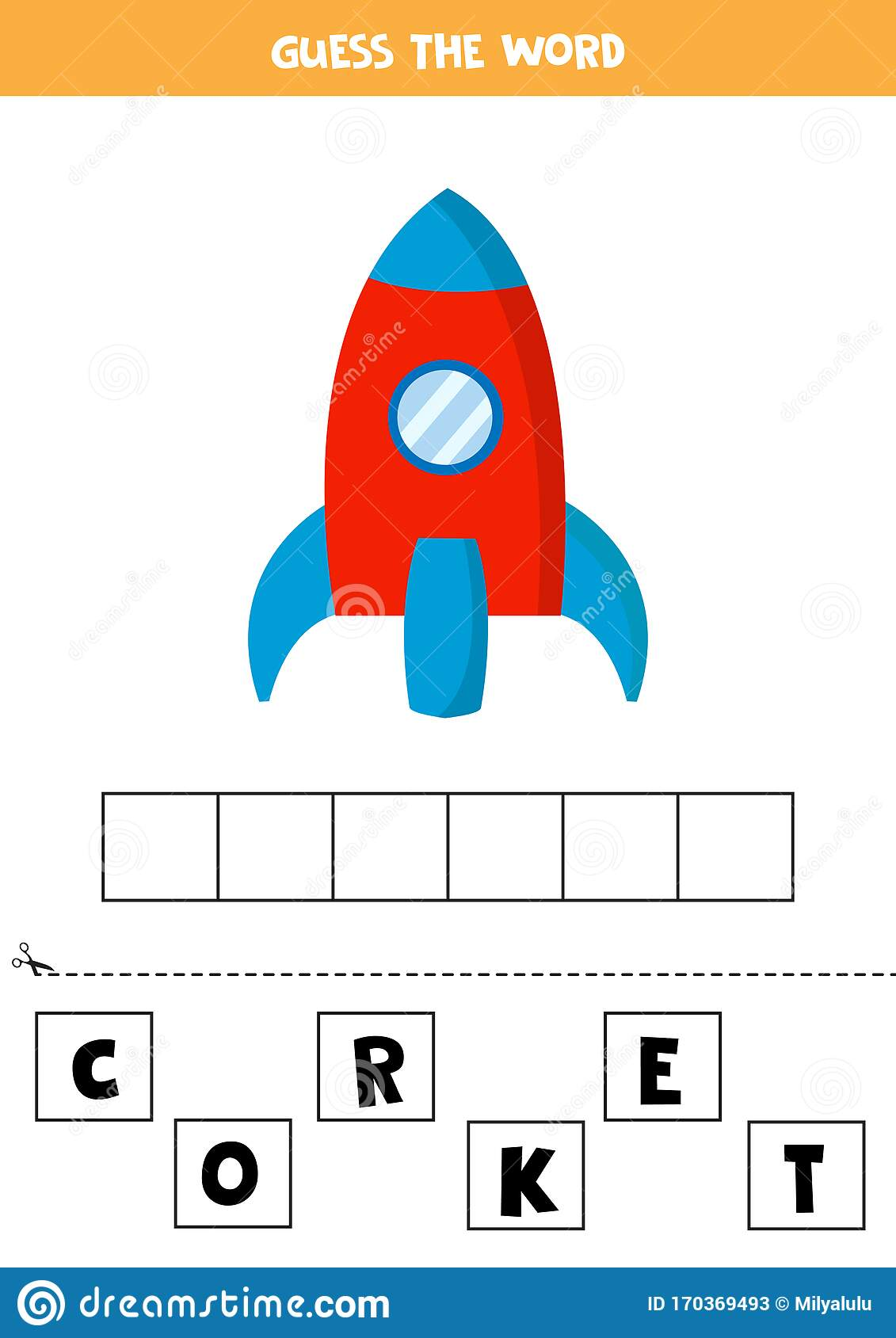 Guess The Word Rocket Spelling For Kids Educational