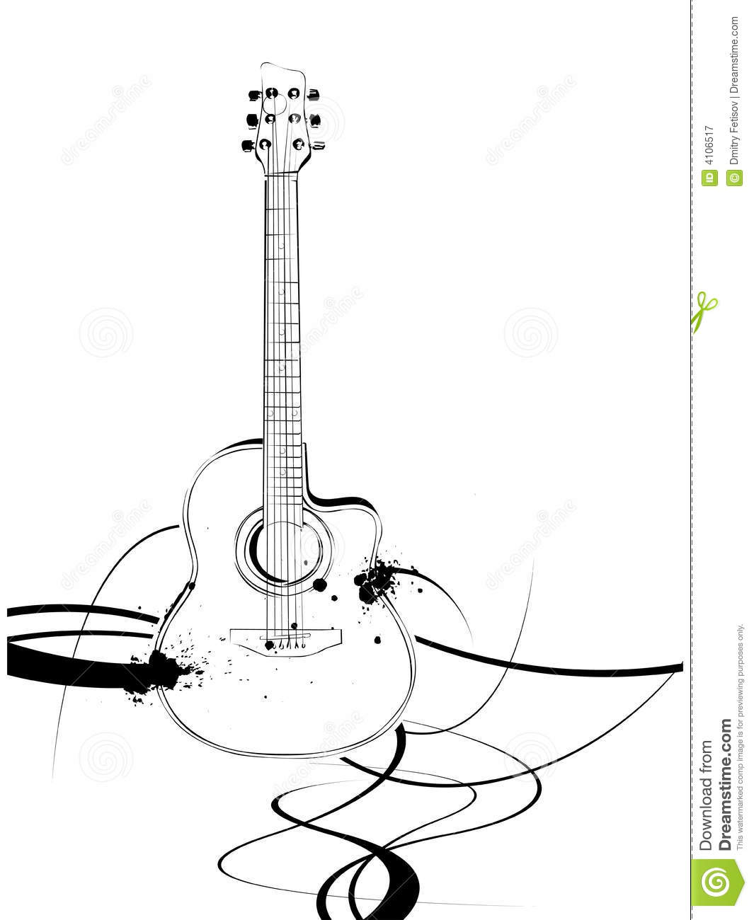 Guitar Stock Vector Illustration Of Vector Acoustic