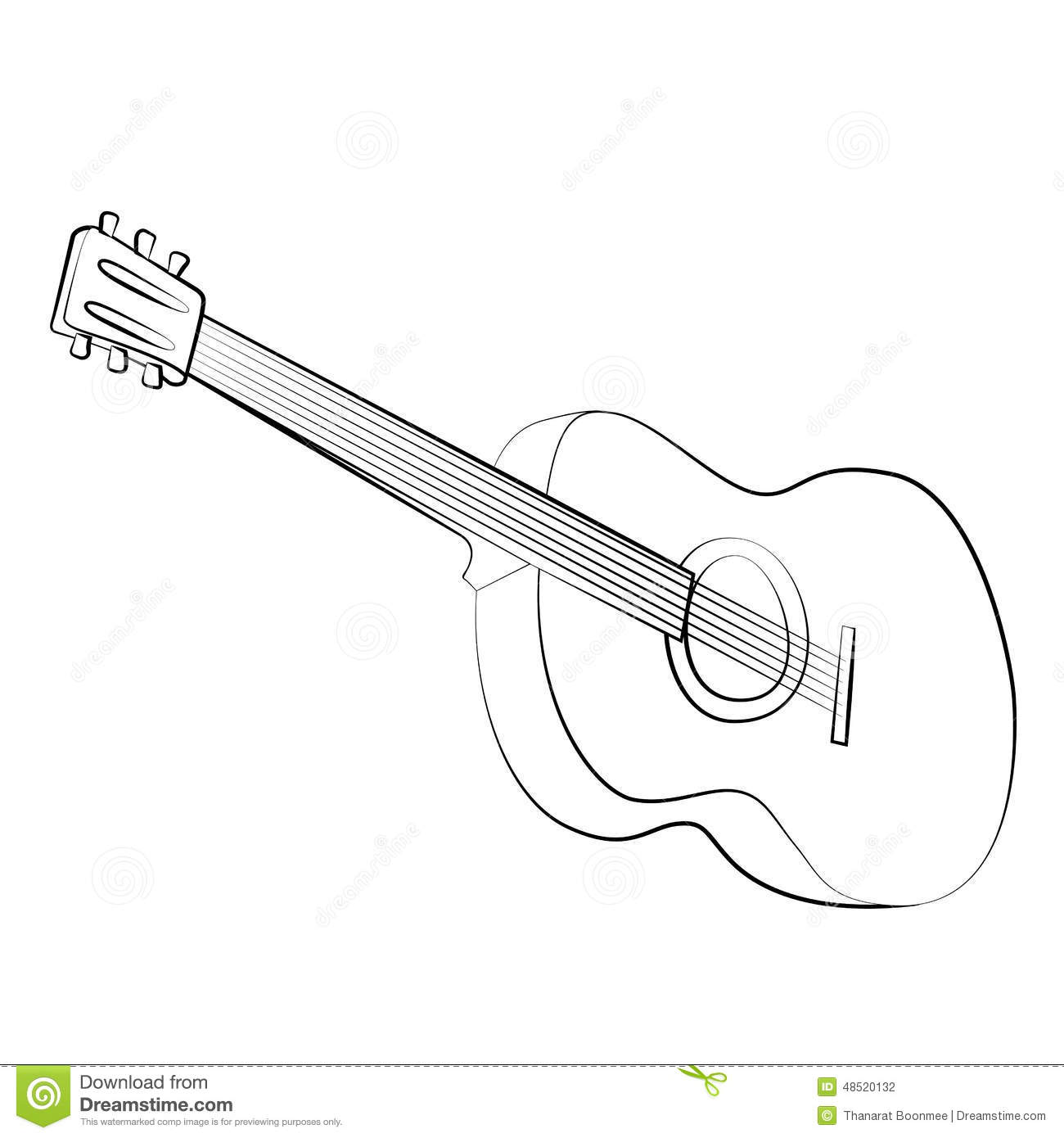 Guitar Stock Vector Illustration Of Instrument Player