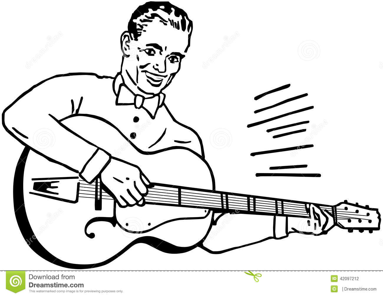 Guitar Player Stock Vector Illustration Of People