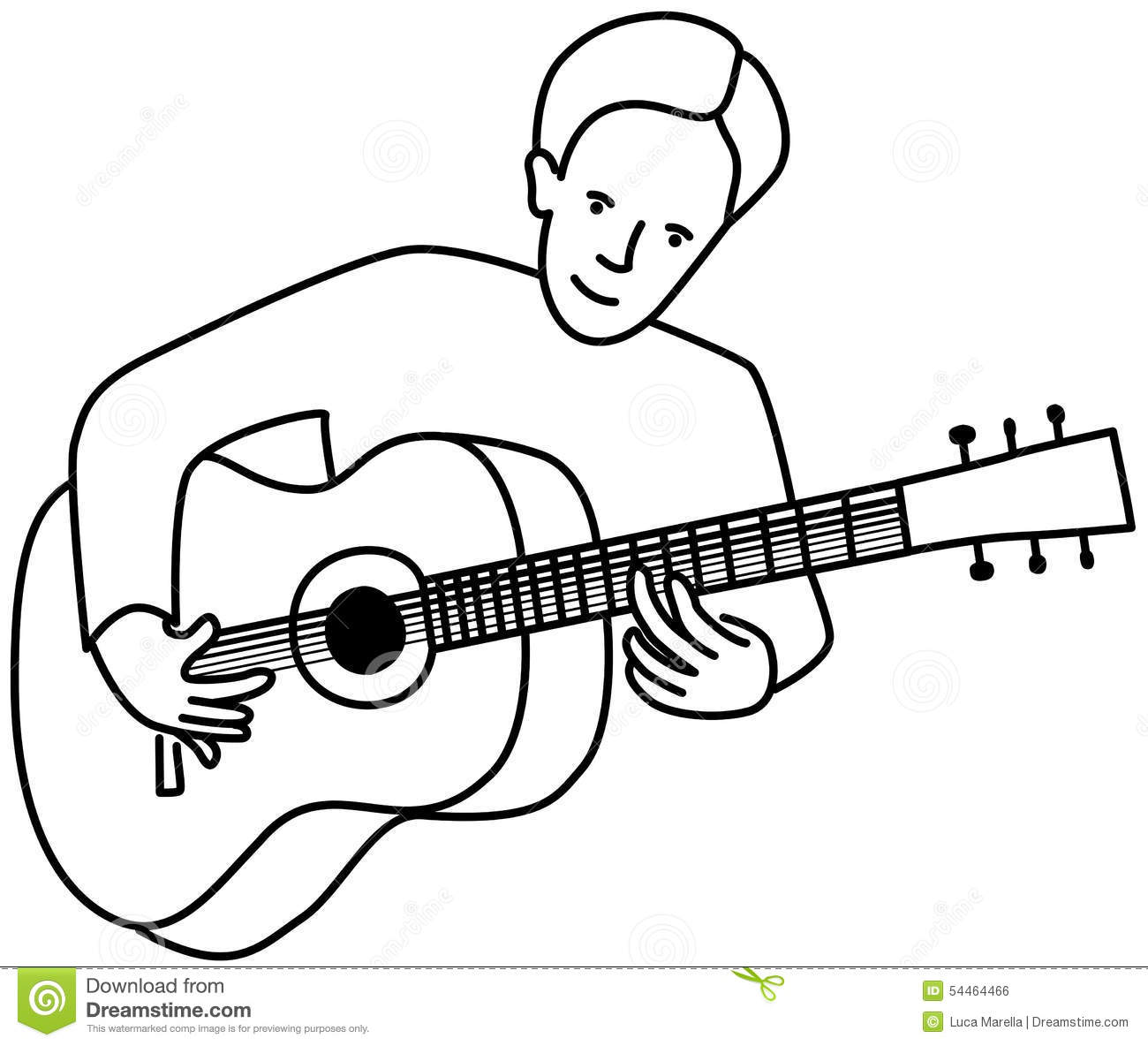Guitarist Stock Vector Illustration Of Guitarist Music