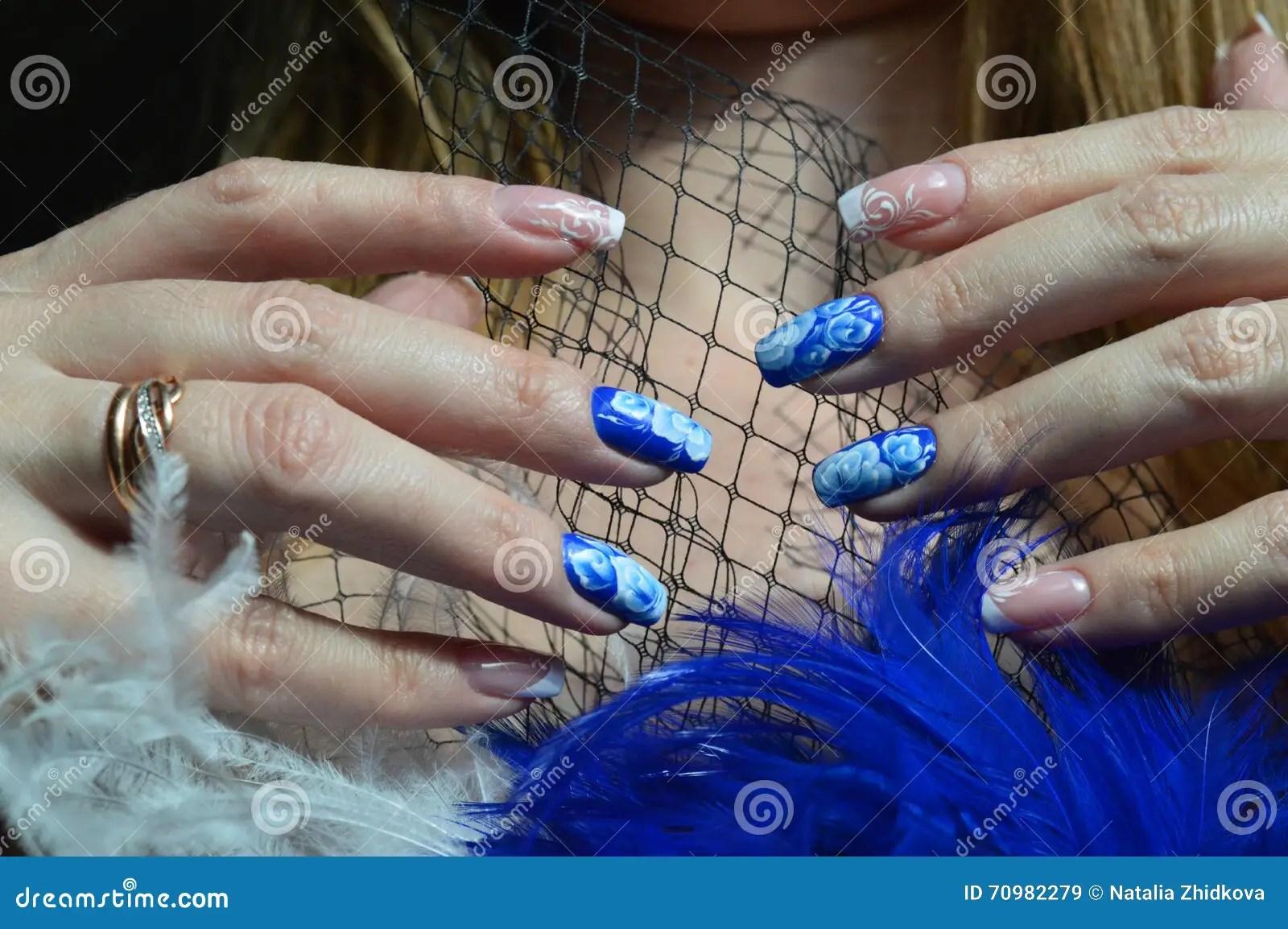 Gwozdzia Projekt Francuski Manicure I Wzrastal W Technice Chinski